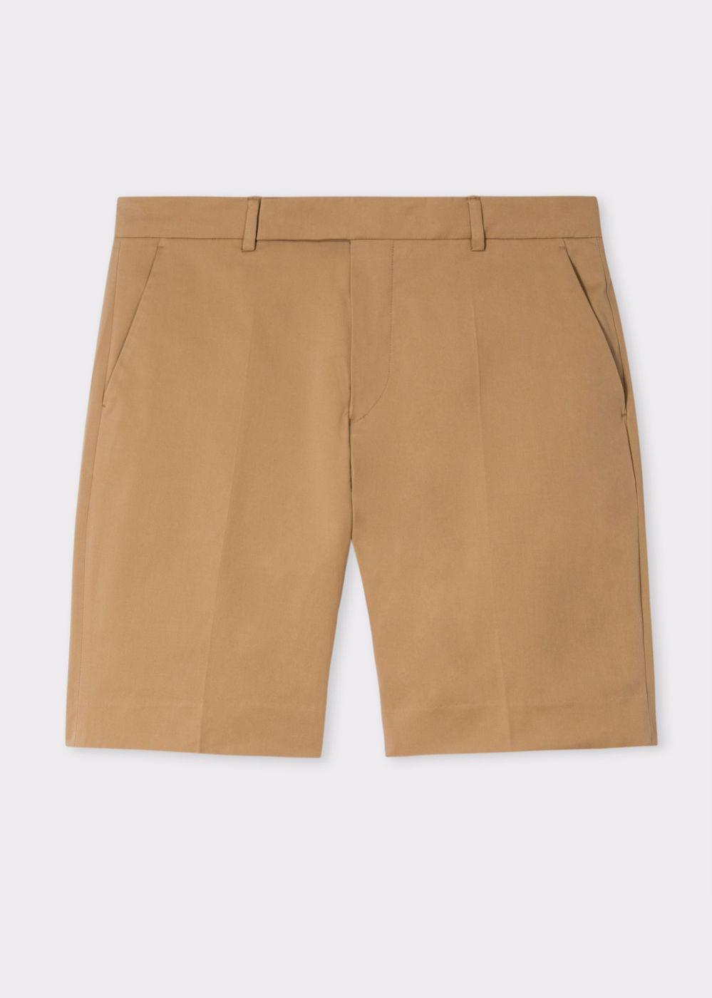 f5668f9dc9 Lyst - Paul Smith Men's Tan Stretch Cotton-twill Shorts for Men