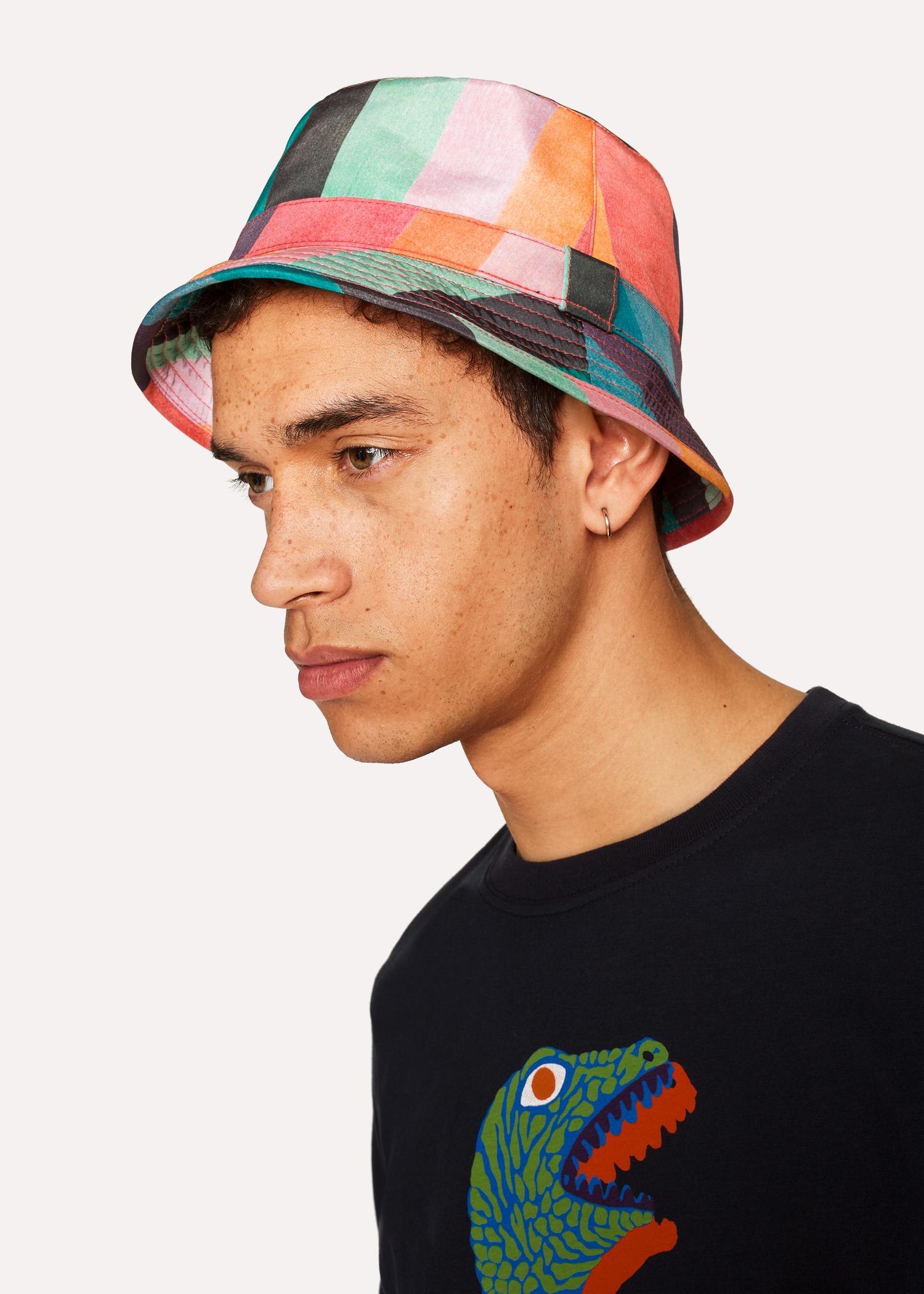 39e3c60b4d3fd9 Paul Smith 'Artist Stripe' Bucket Hat for Men - Lyst