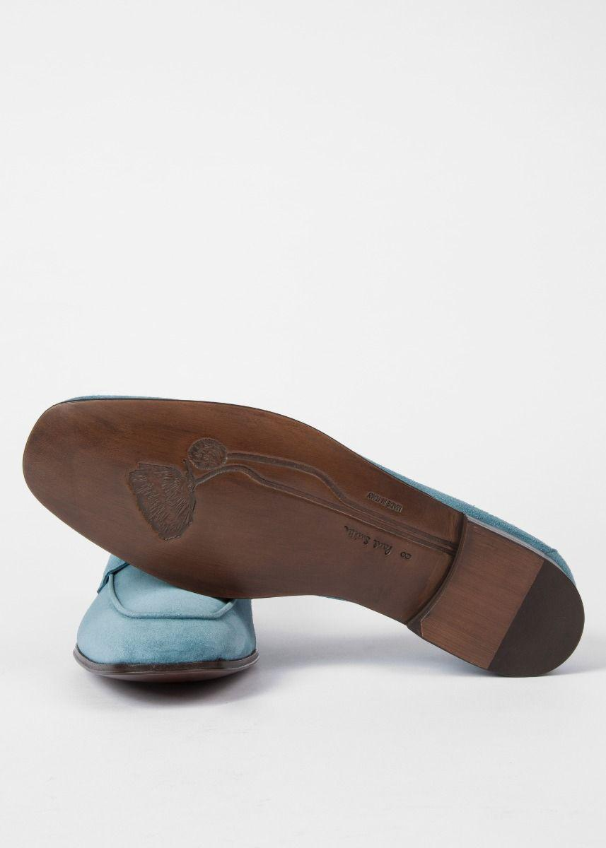 1953e6086cf Lyst - Paul Smith Men s Dark Turquoise Suede  glynn  Penny Loafers ...