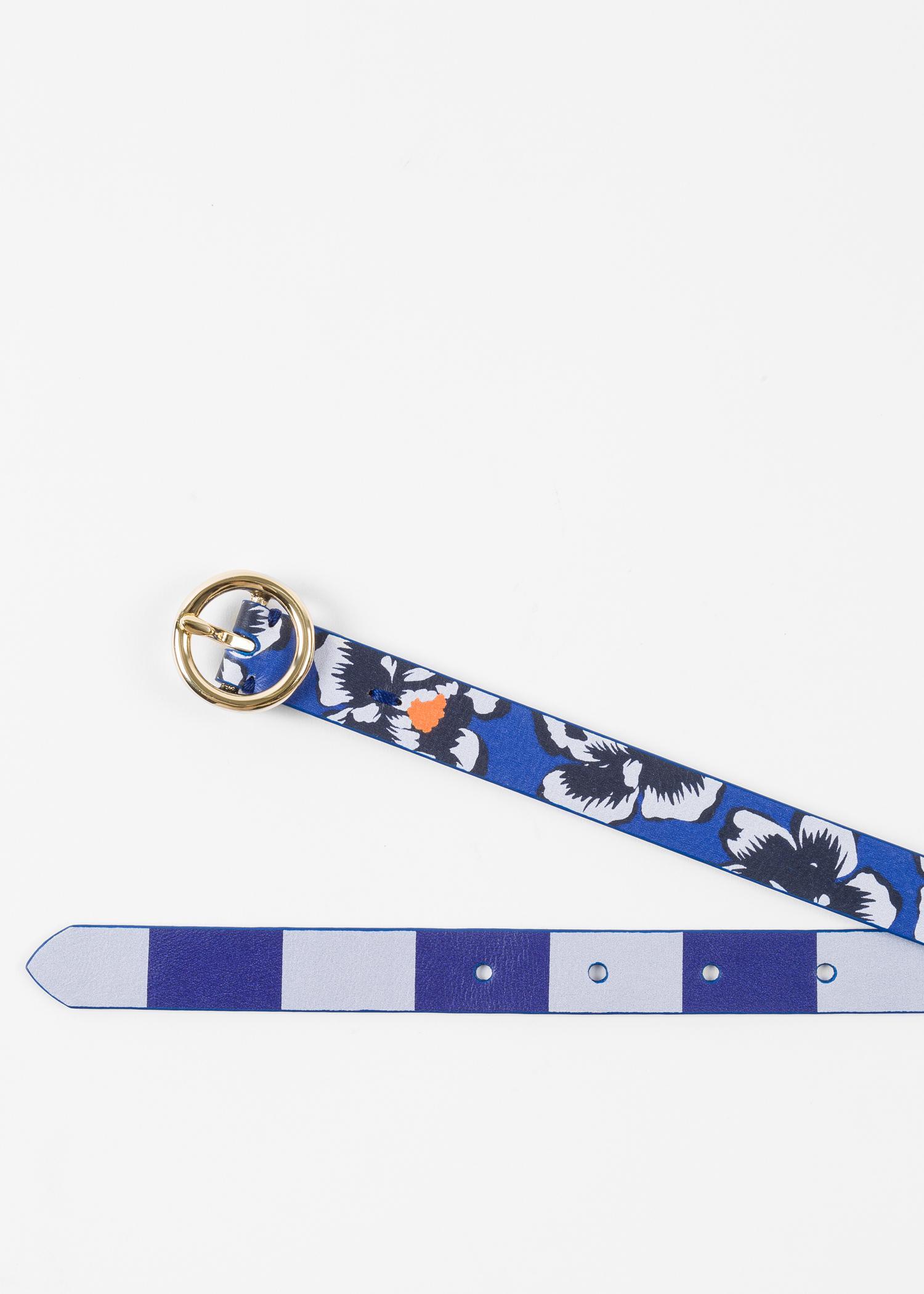 hawaiian flowers and stripes belt - Blue Paul Smith LivyQ7WS