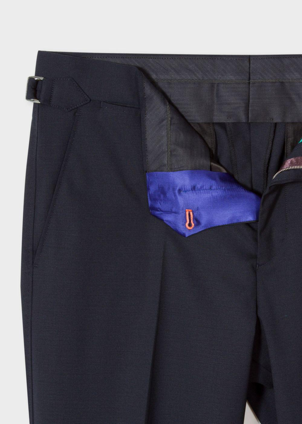 Lyst Paul Smith Men S Slim Fit Navy Wool Trousers With