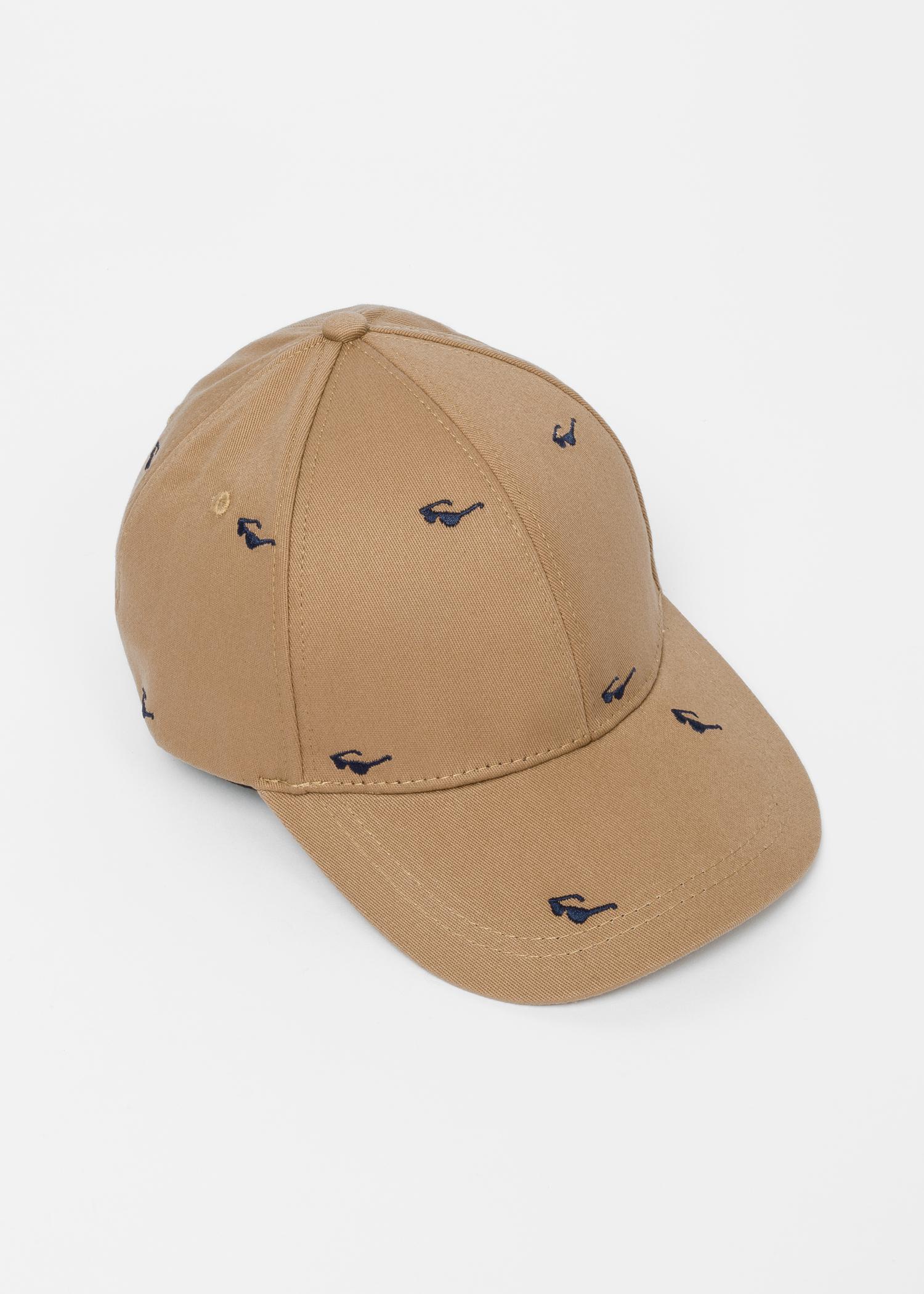 9637178cbd6 Paul Smith Camel Embroidered  Sunglasses  Motif Cotton Baseball Cap ...