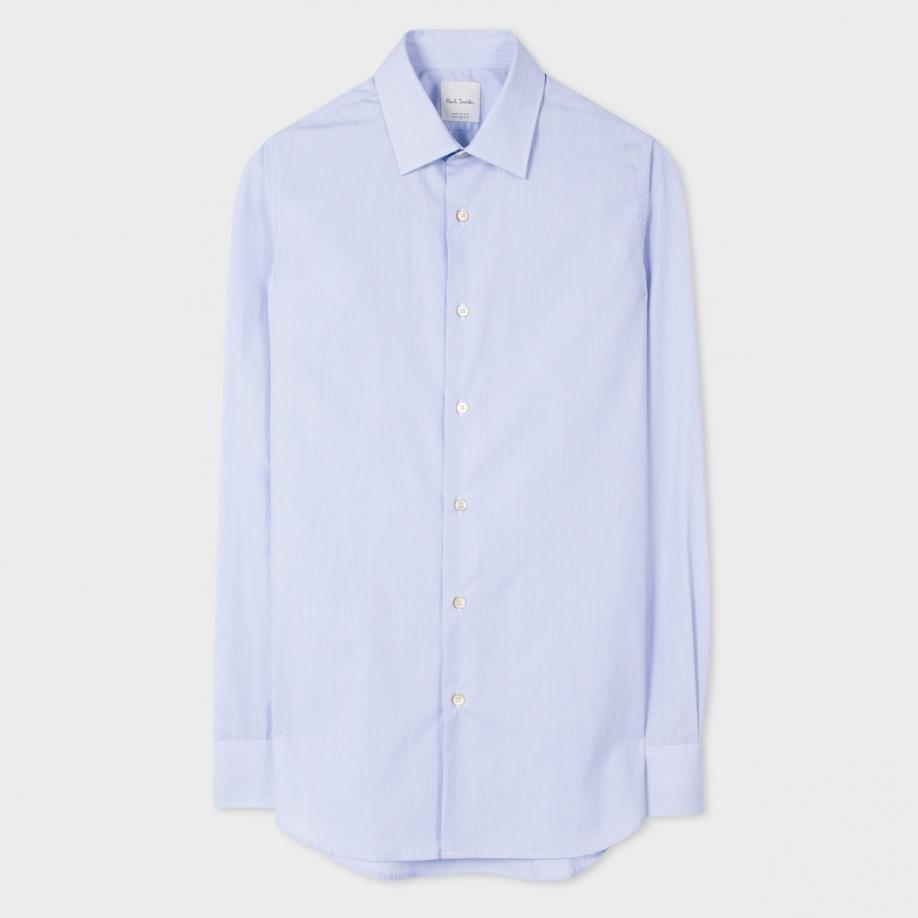 Paul Smith Men 39 S Tailored Fit Light Blue Pinstripe Shirt