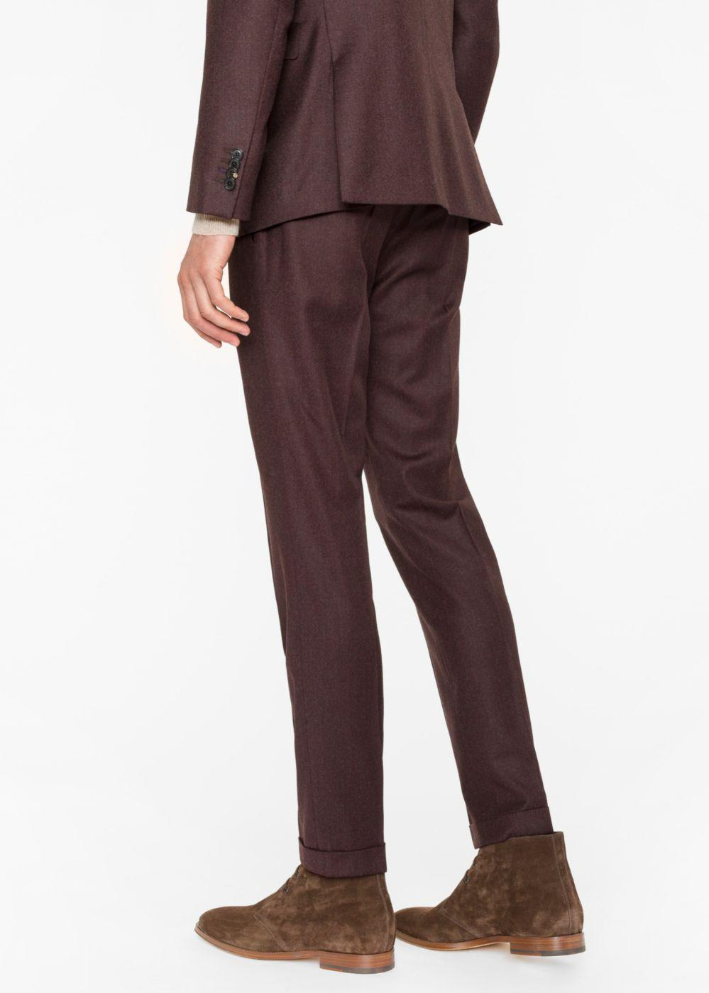 439a3d1e9fd Lyst - Paul Smith Men s Slim-fit Brown Wool-cashmere Trousers in ...
