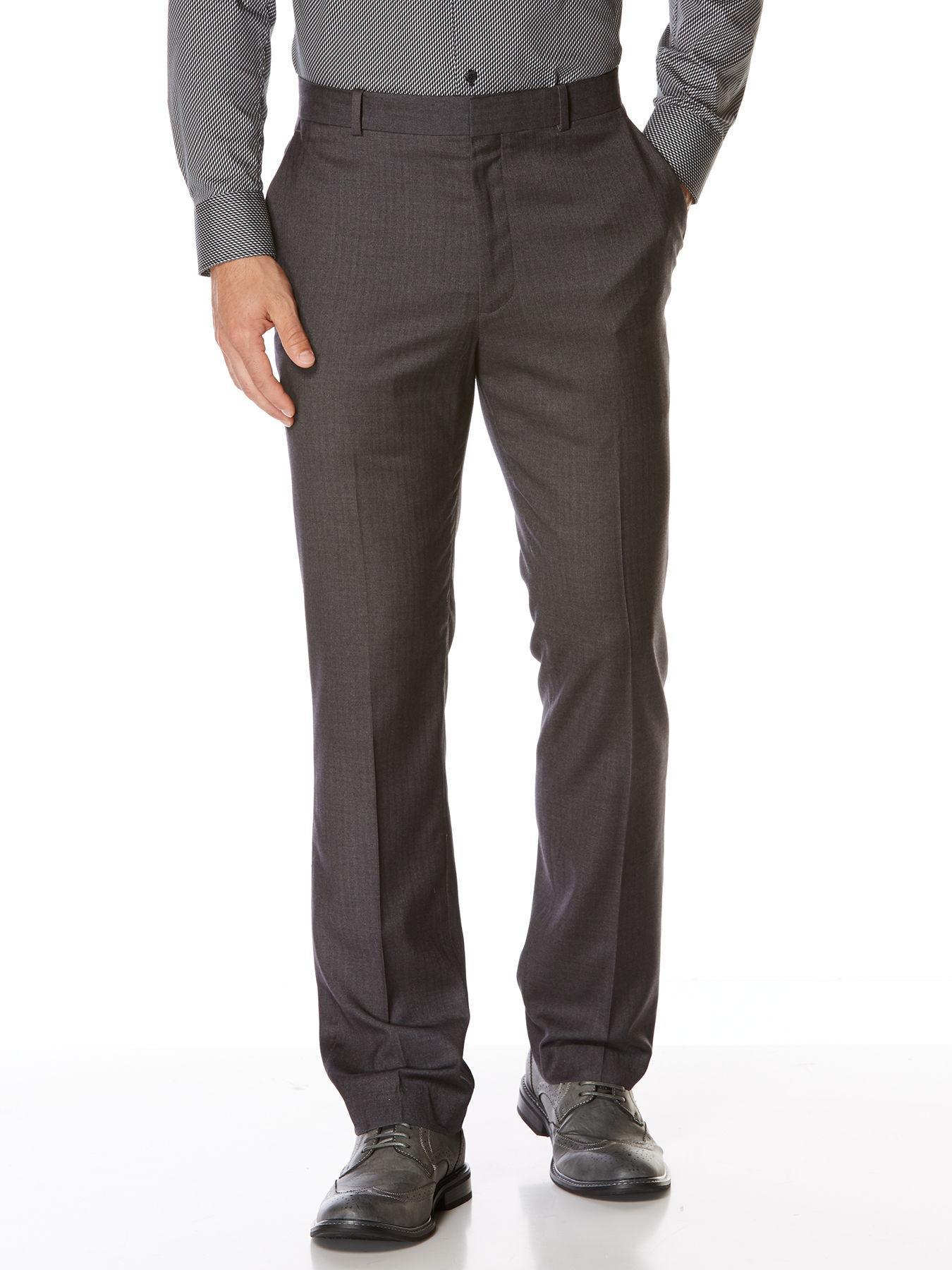 Perry Ellis Slim Fit Solid Portfolio Dress Pant In Gray