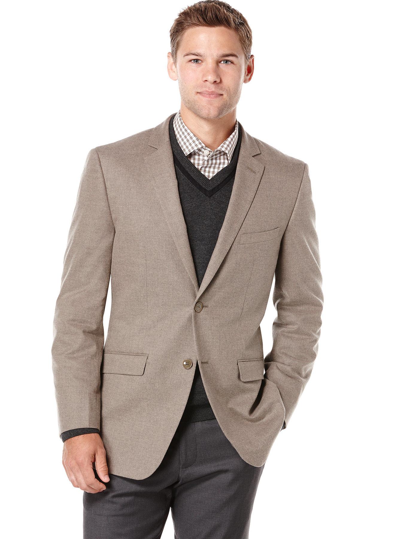 Perry Ellis Slim Fit Tan Sportcoat Jacket In Brown For Men