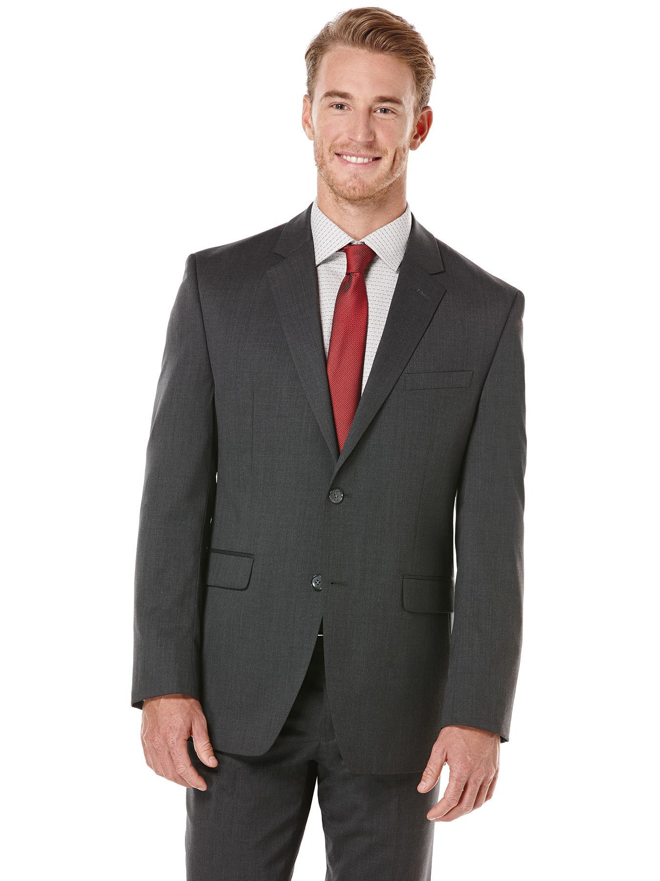 bec0f9d25b Lyst - Perry Ellis Charcoal Solid Suit Jacket in Black for Men