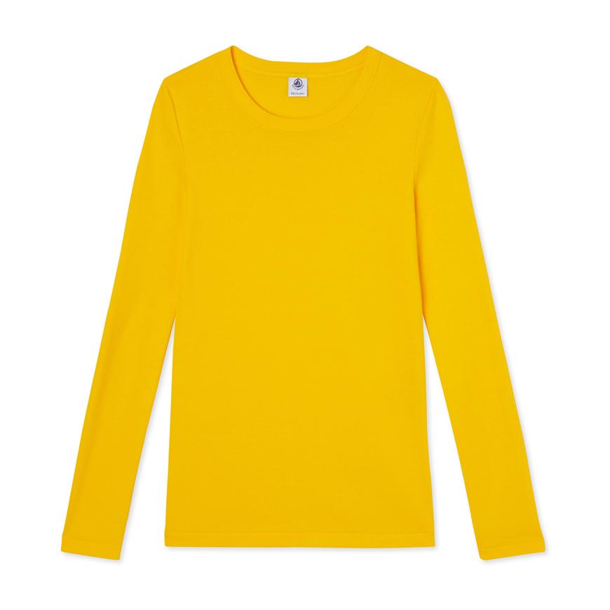 Petit Bateau Iconic Women 39 S Long Sleeved T Shirt In Yellow