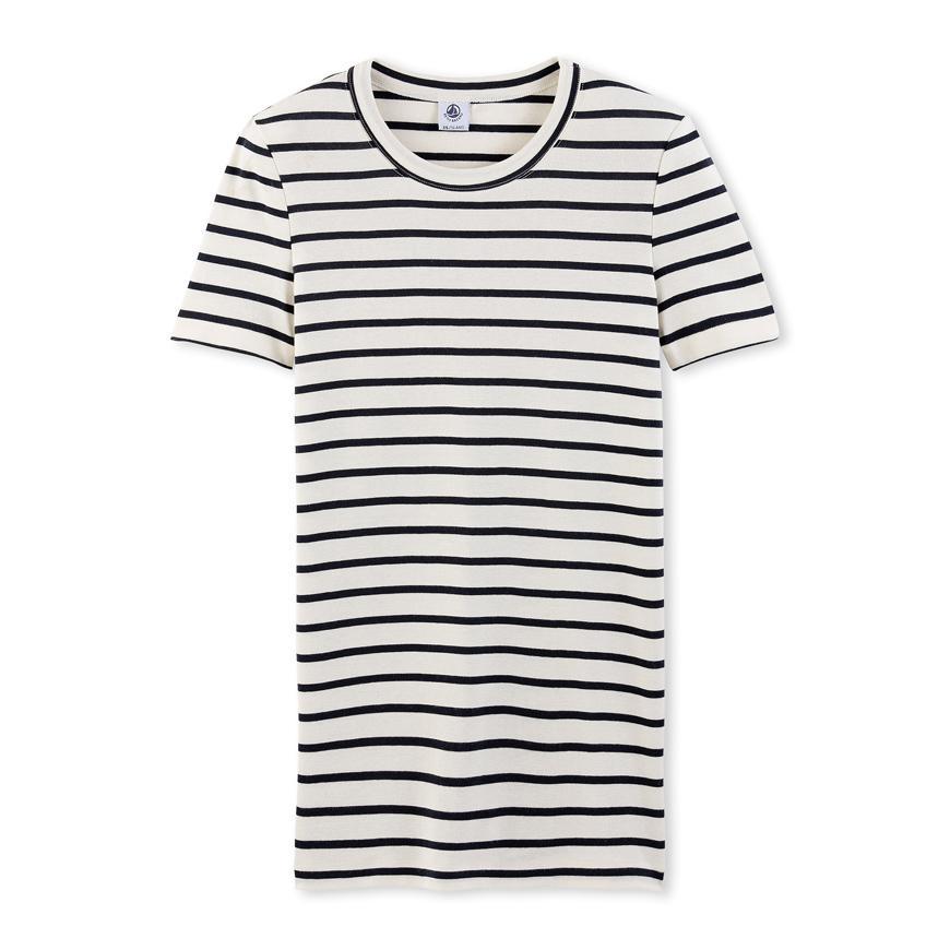 Petit bateau women 39 s striped tee lyst for Petit bateau striped shirt