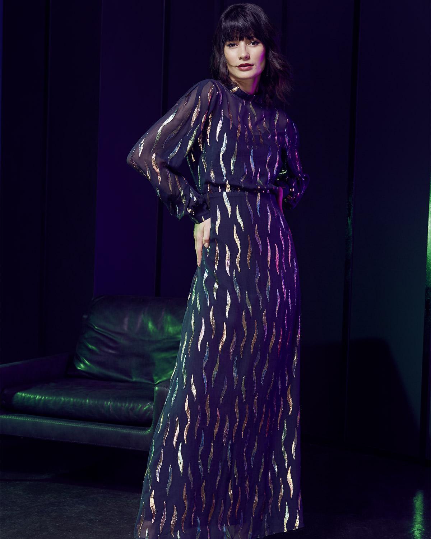 17c9b5162f5 Phase Eight Penny Shimmer Silk Maxi Dress in Black - Lyst