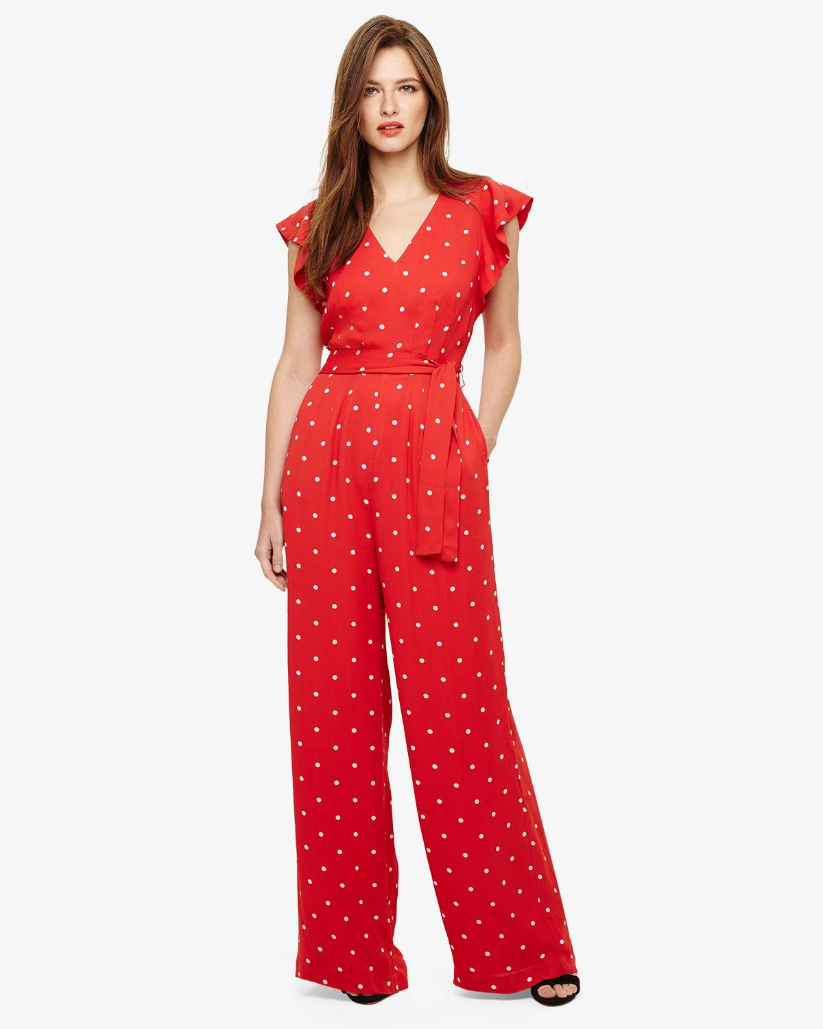 d73f59a8374 Phase Eight Dotty Jumpsuit in Red - Save 15% - Lyst
