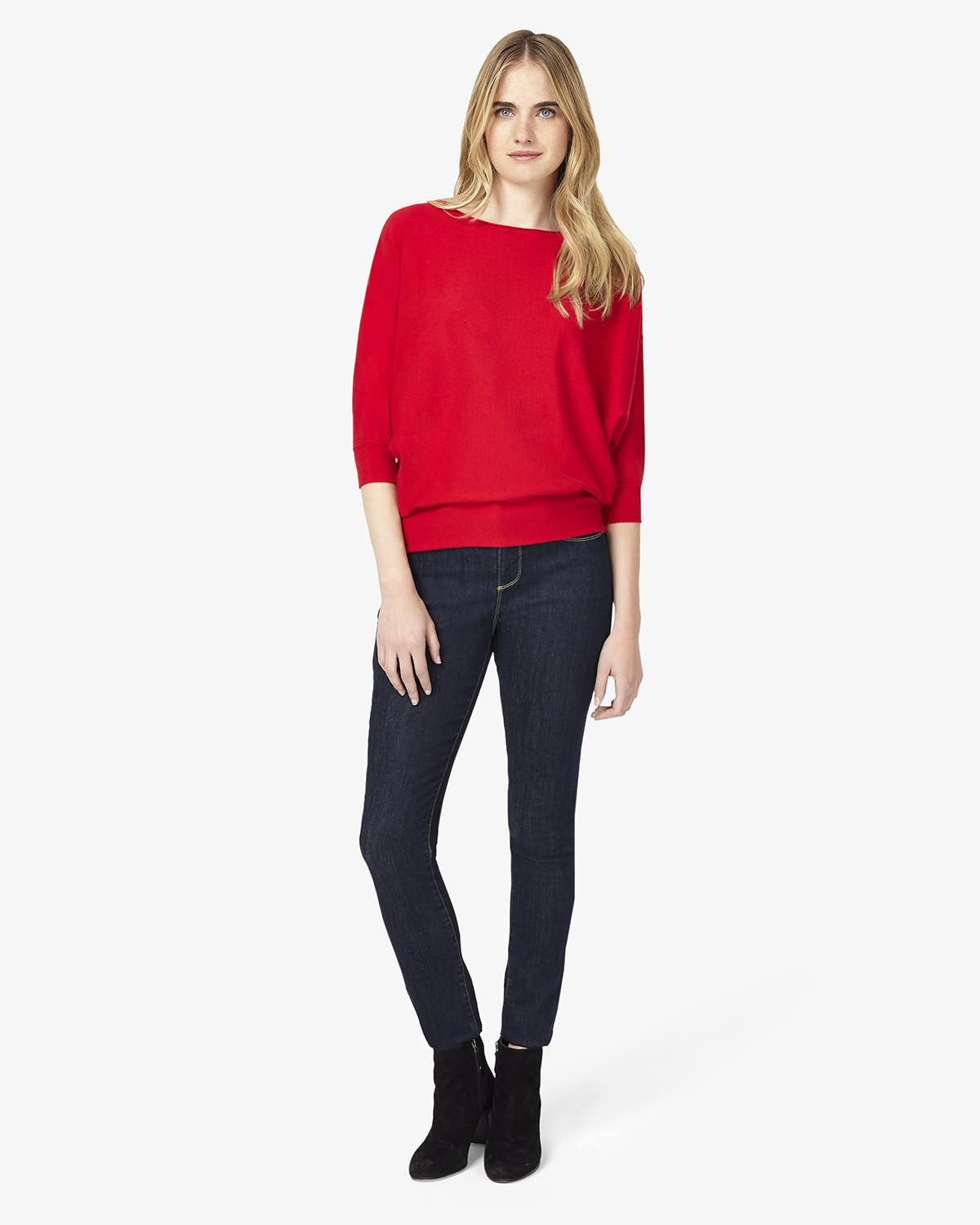 5552ed8a6a9 Phase Eight Becca Batwing Smart Jumper in Red - Lyst