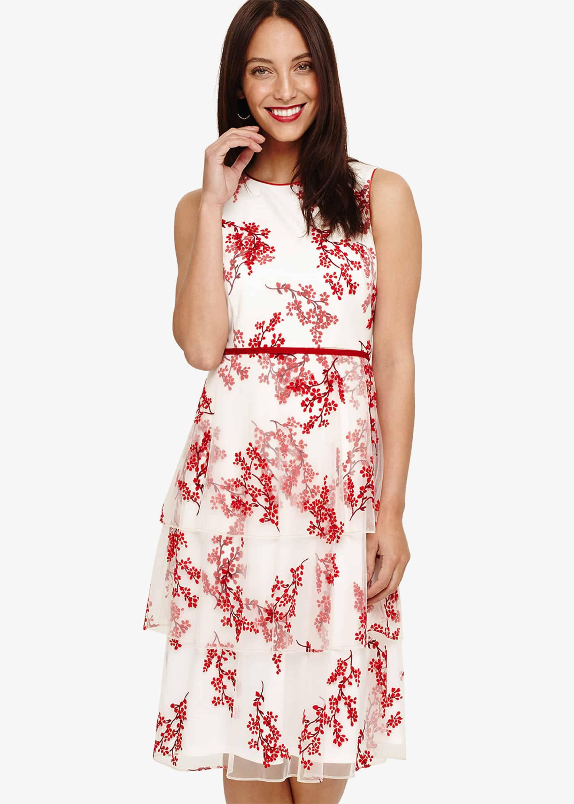 93a73223e0ce Tap to visit site. Phase Eight - White Francine Ditsy Floral Dress ...