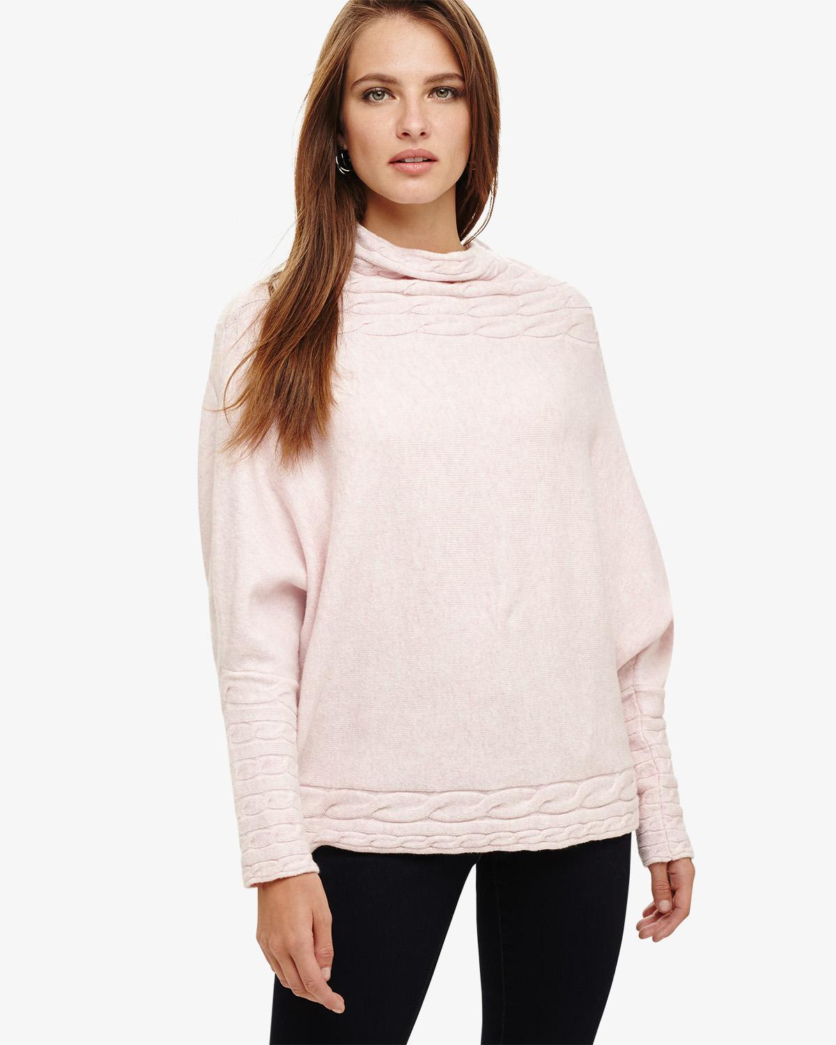 ed087b9641c Phase Eight Corine Cable Knit Jumper in Pink - Lyst