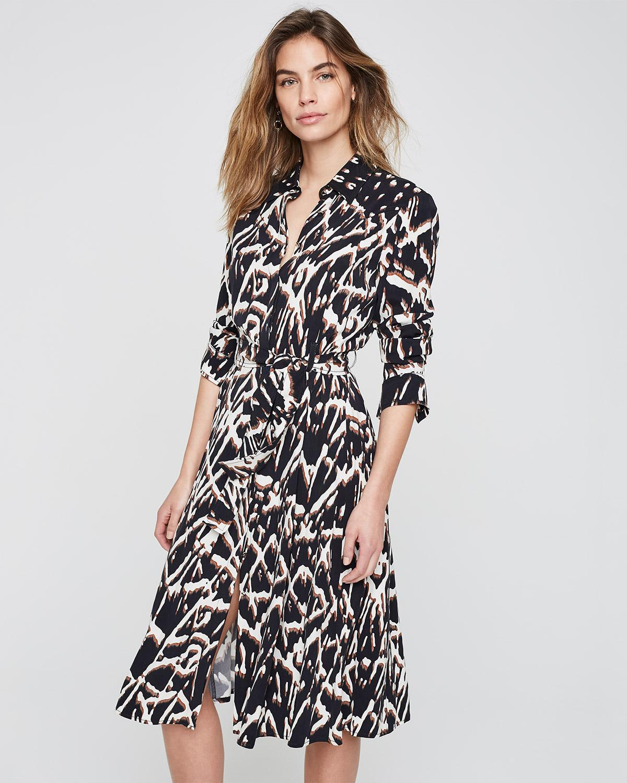 d071e65f4c2 Phase Eight Theodora Animal Print Shirt Dress in Black - Lyst
