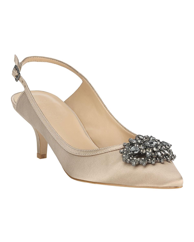f2e618b433c Phase Eight Dina Jewel Kitten Heel Shoes - Lyst