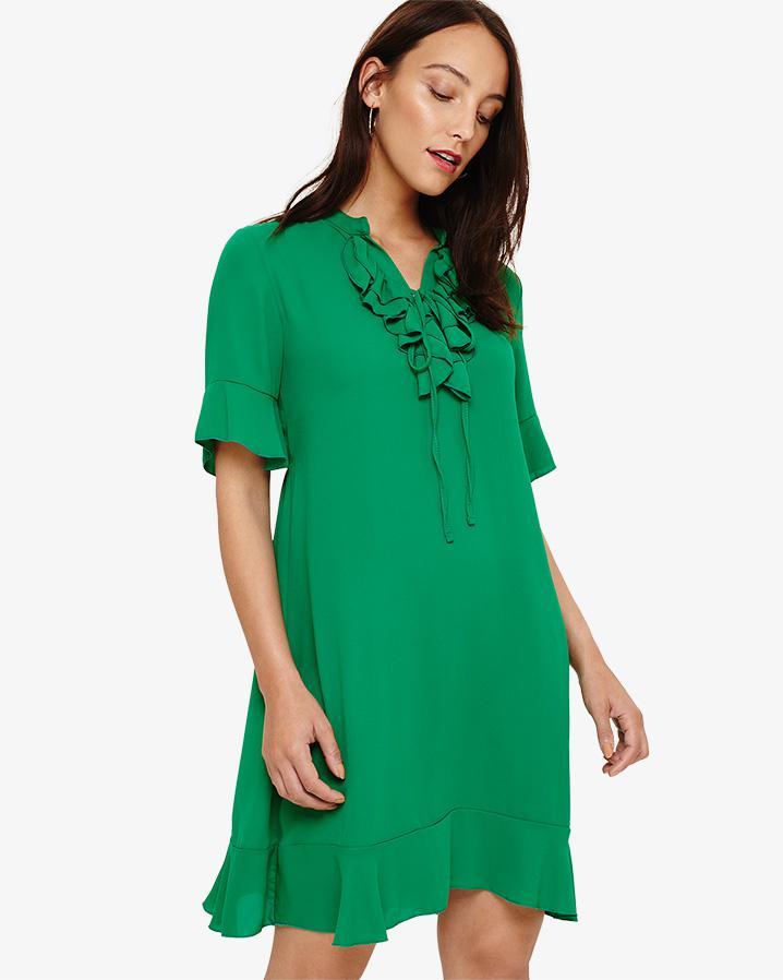a3337b706ec Lyst - Phase Eight Sarah Frill Dress in Green