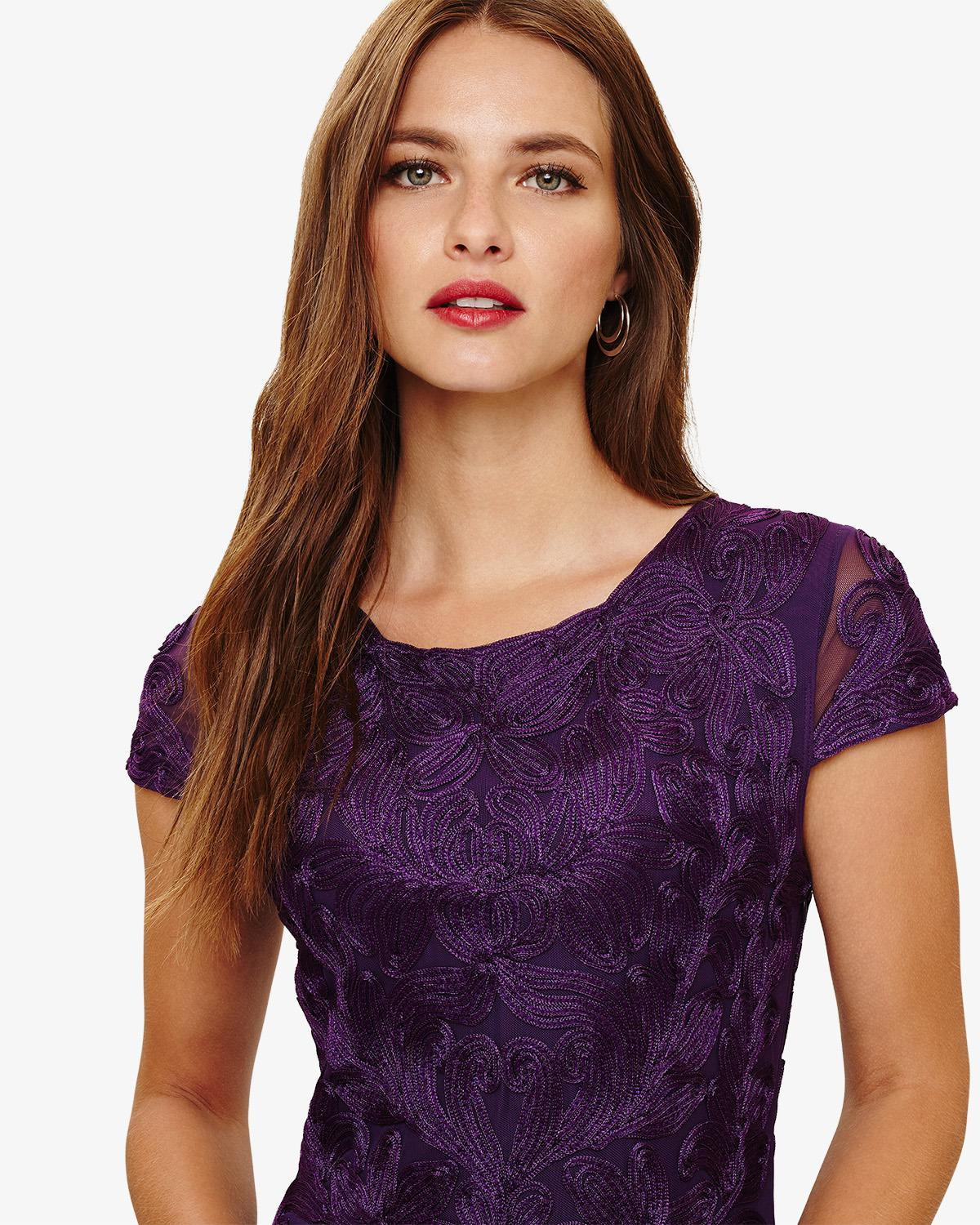 28cd8a1853d Phase Eight Cordelia Tapework Dress in Purple - Save 35% - Lyst
