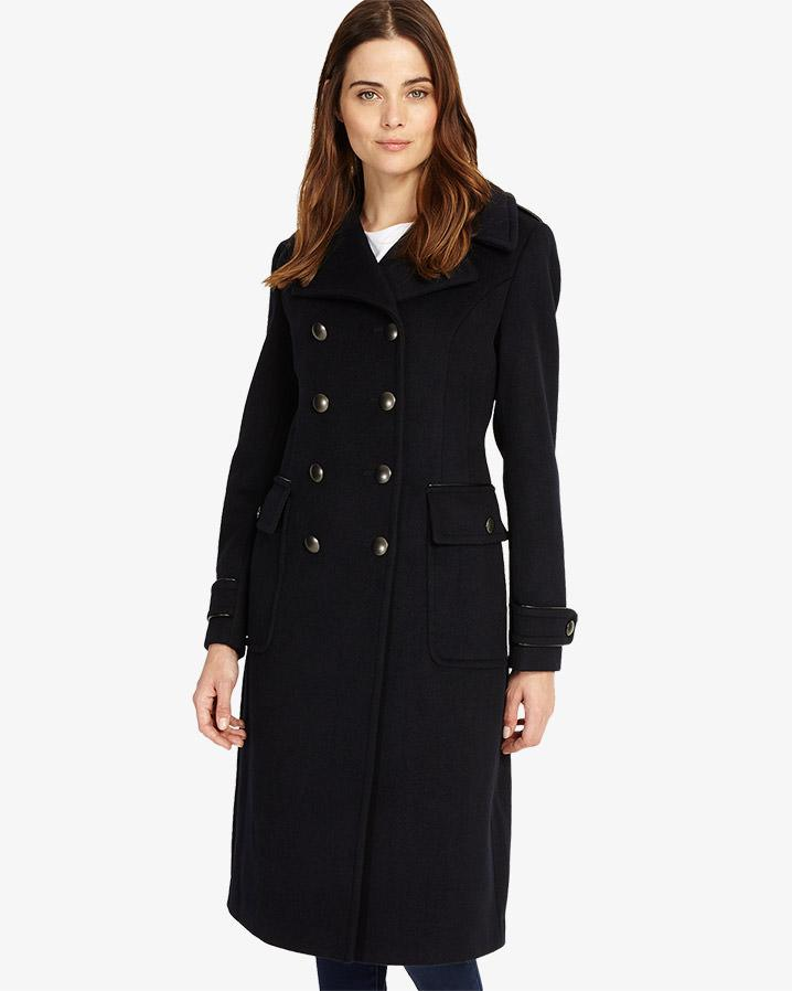 Phase Eight. Women's Blue Kamryn Double-breasted Coat