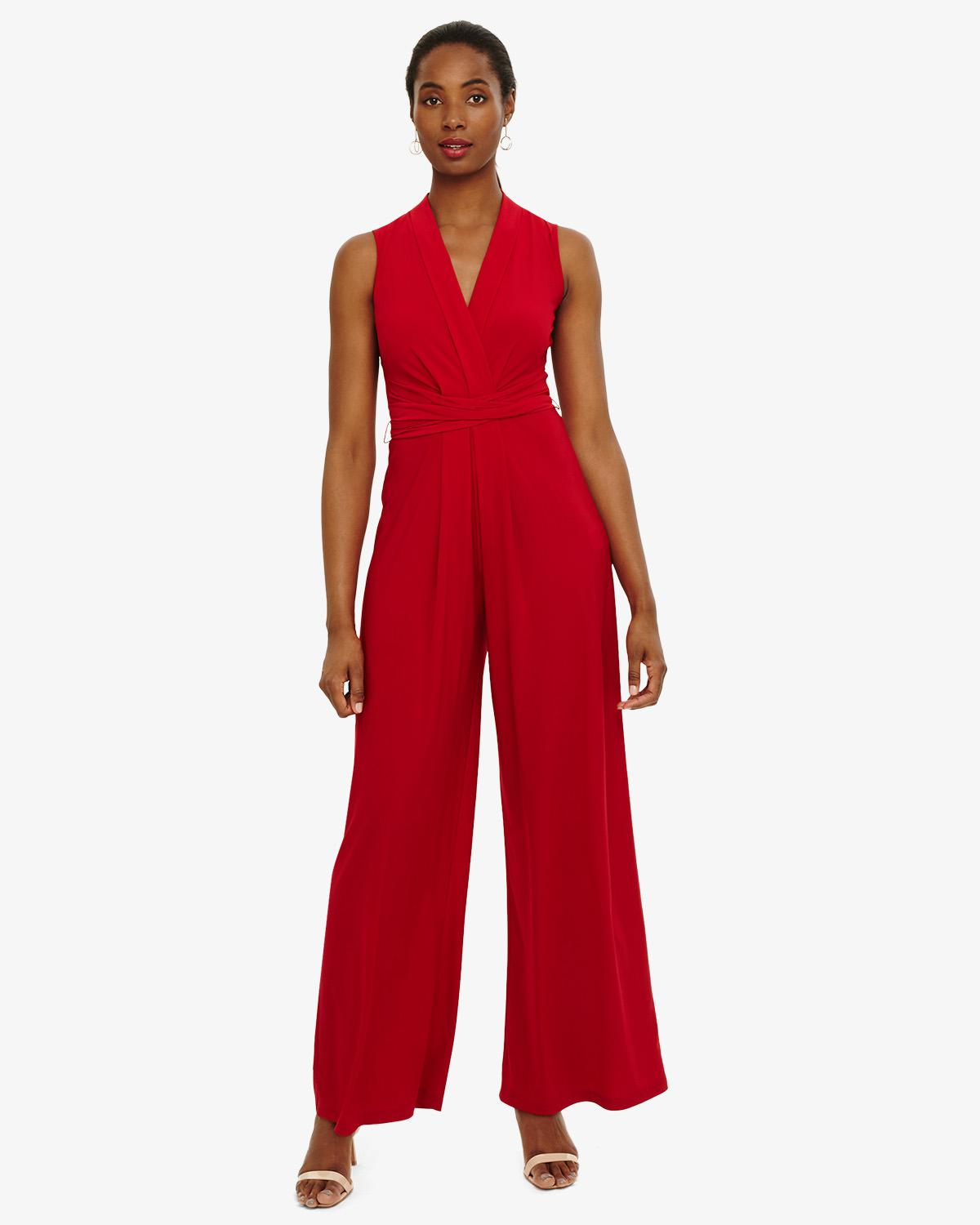 d409fc610ae Phase Eight Tia Sleeveless Jumpsuit in Red - Save 20% - Lyst