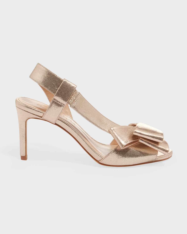 da887198455 Phase Eight Allie Asymmetric Strap Sandal in Metallic - Lyst