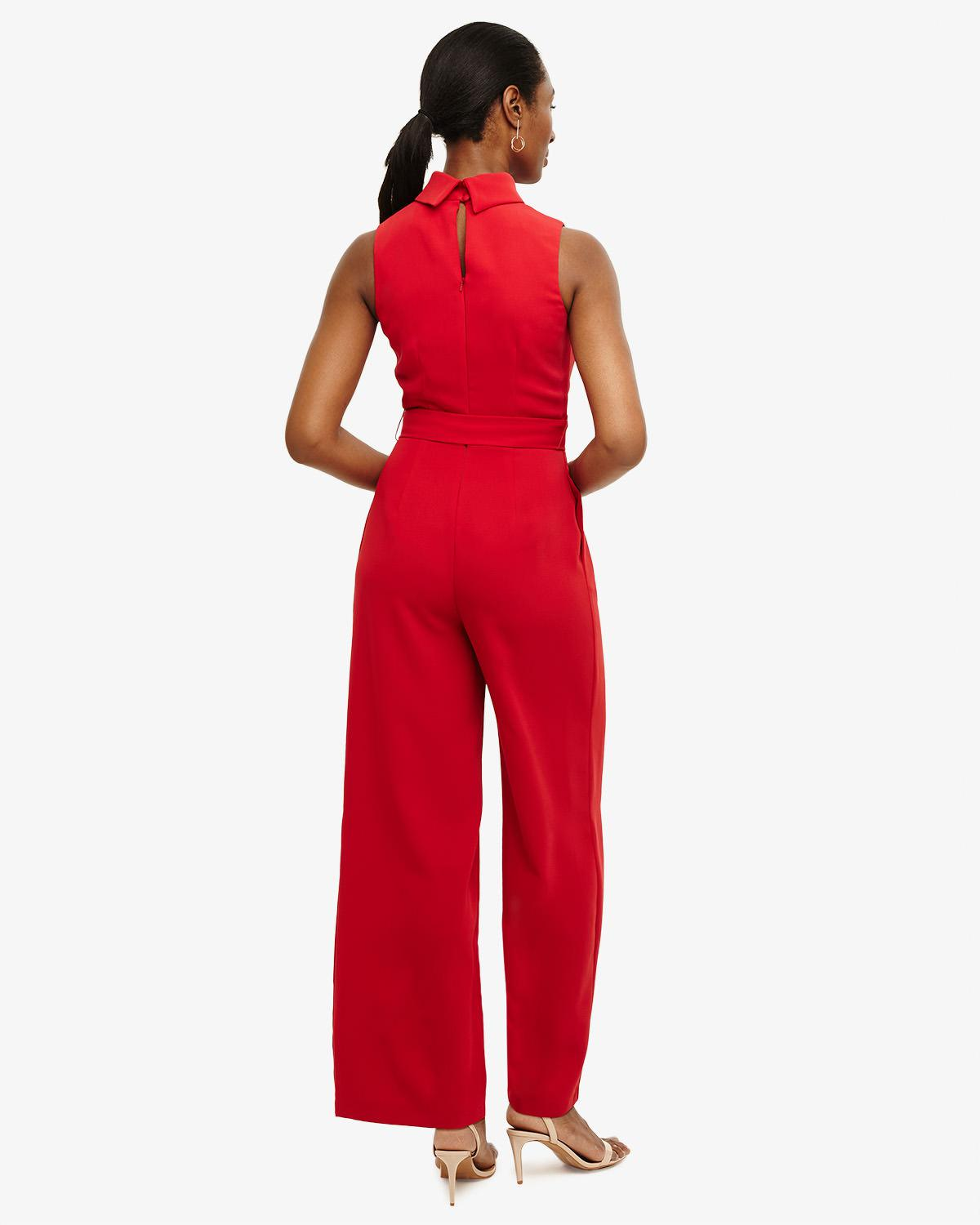 e7e05044dddb Phase Eight Cressida Roll Neck Jumpsuit in Red - Lyst