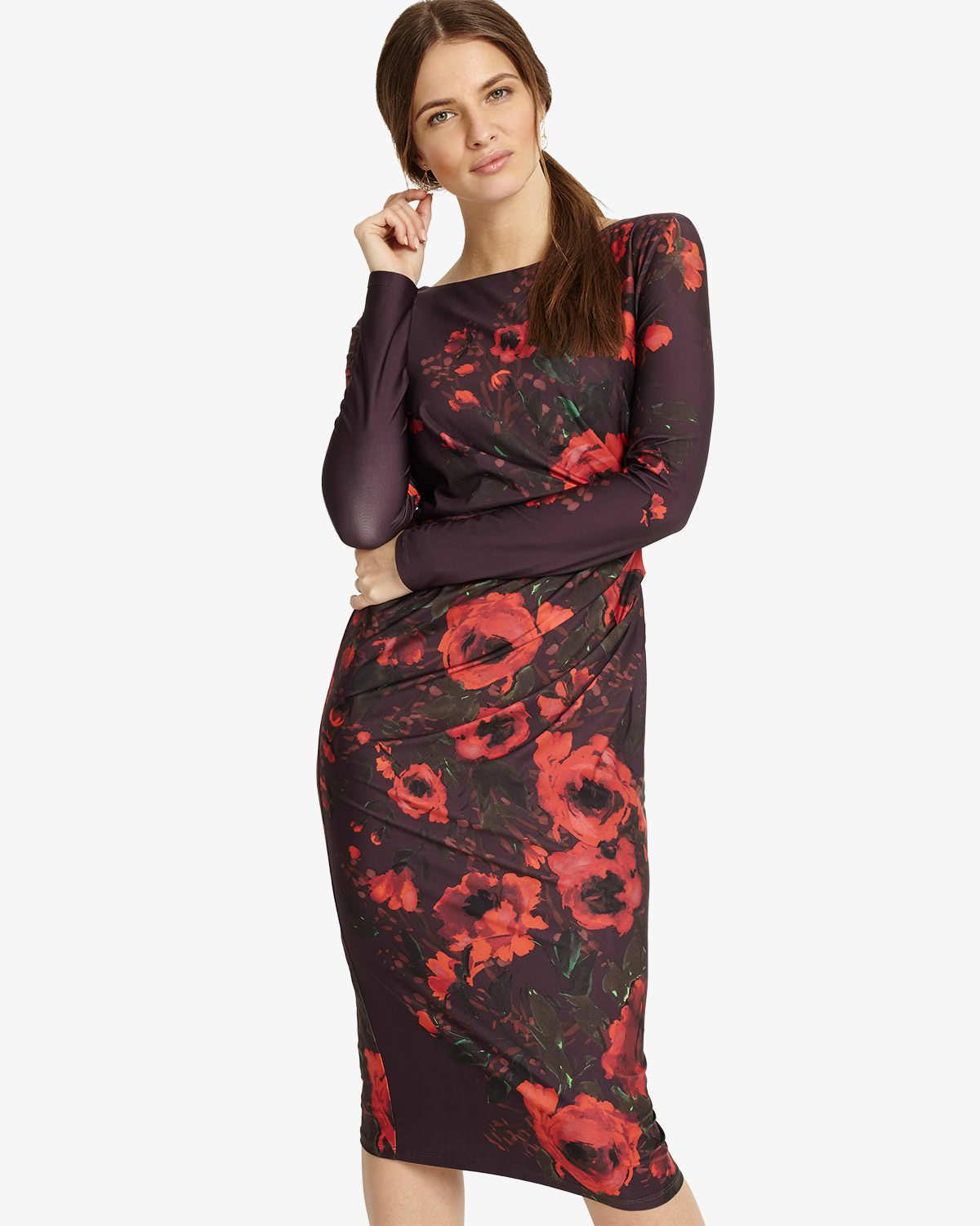 a7e6061e9d9c6 Lyst - Phase Eight Wilhelmina Floral Print Dress in Black