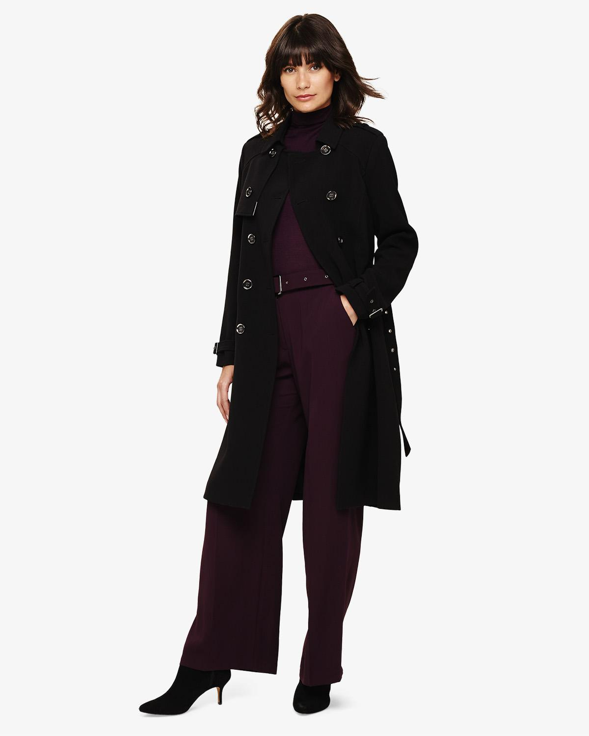 incredible prices new cheap best online Phase Eight Charlie Crepe Trench Coat in Black - Save 30% - Lyst