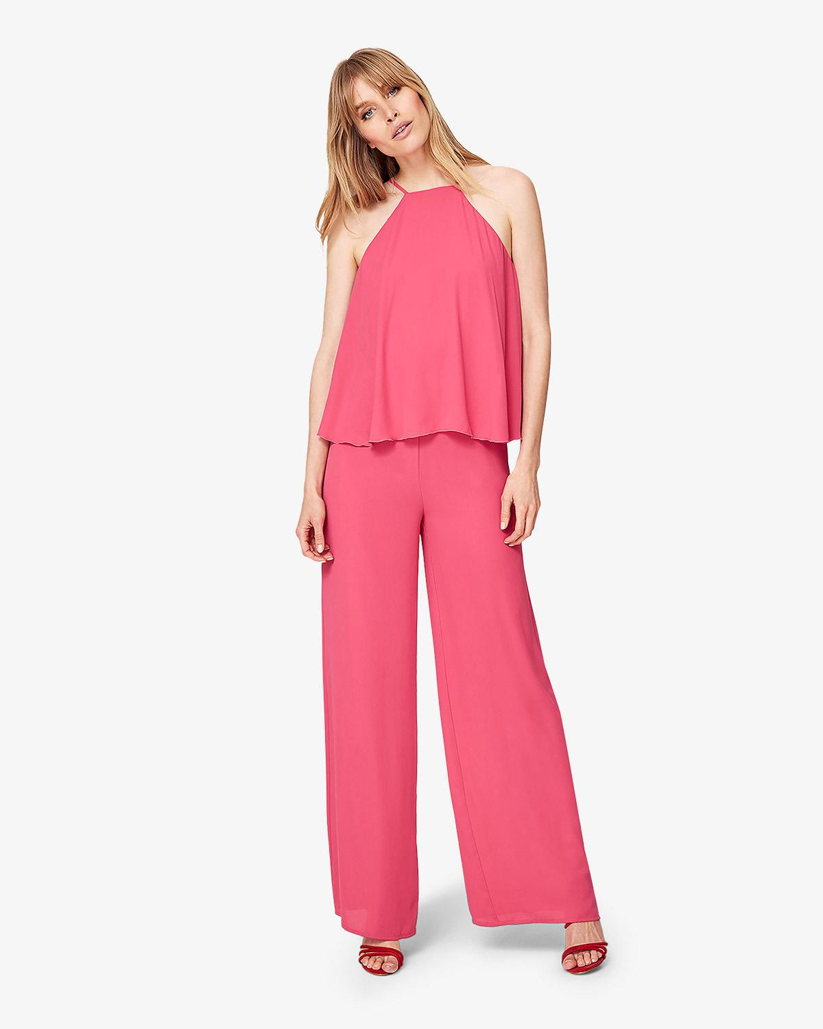 120b89213b17 Lyst - Phase Eight Jessa Tiered Jumpsuit in Pink