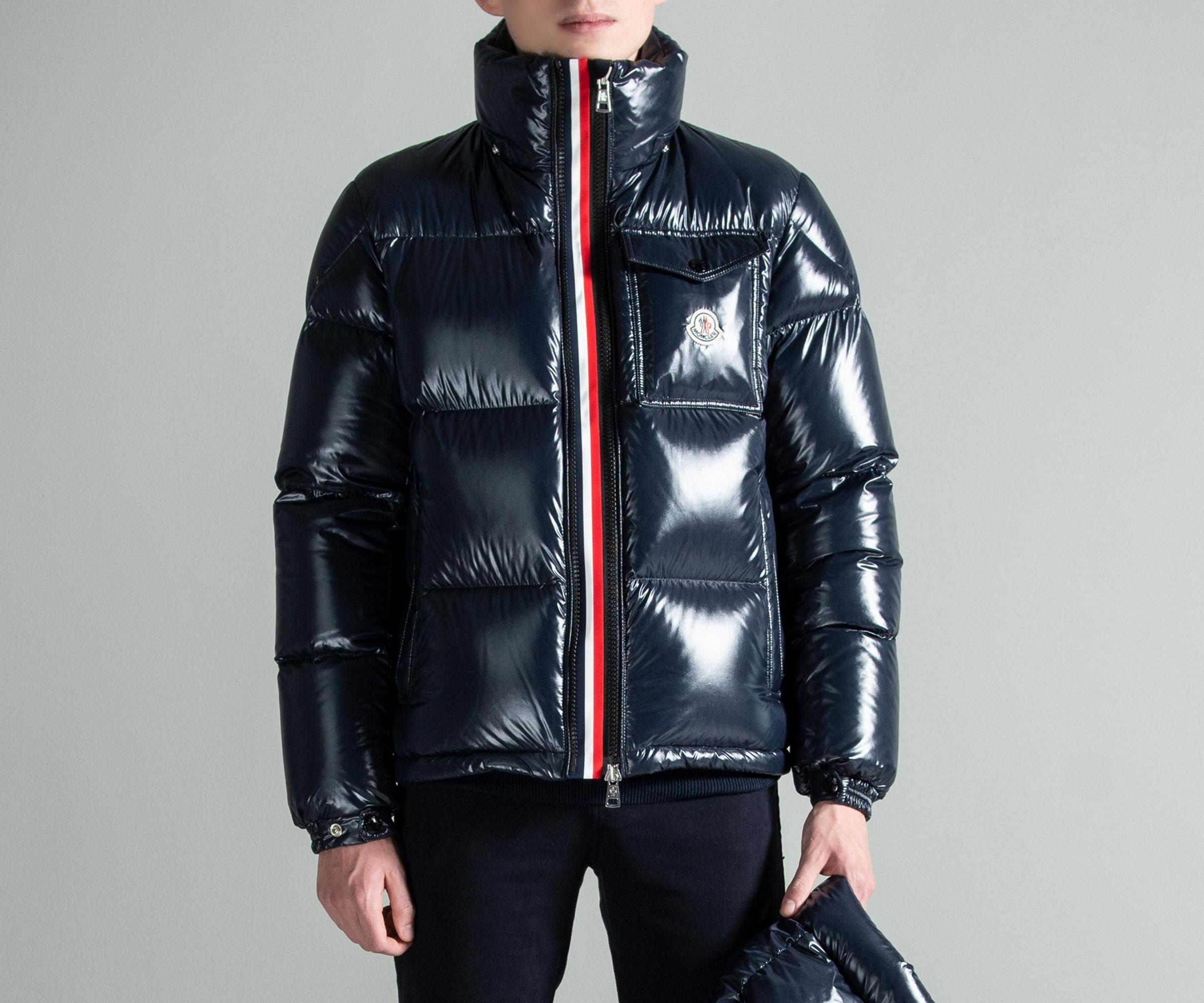 0db51b567 Lyst - Moncler  montbeliard  Down Jacket Navy in Blue for Men