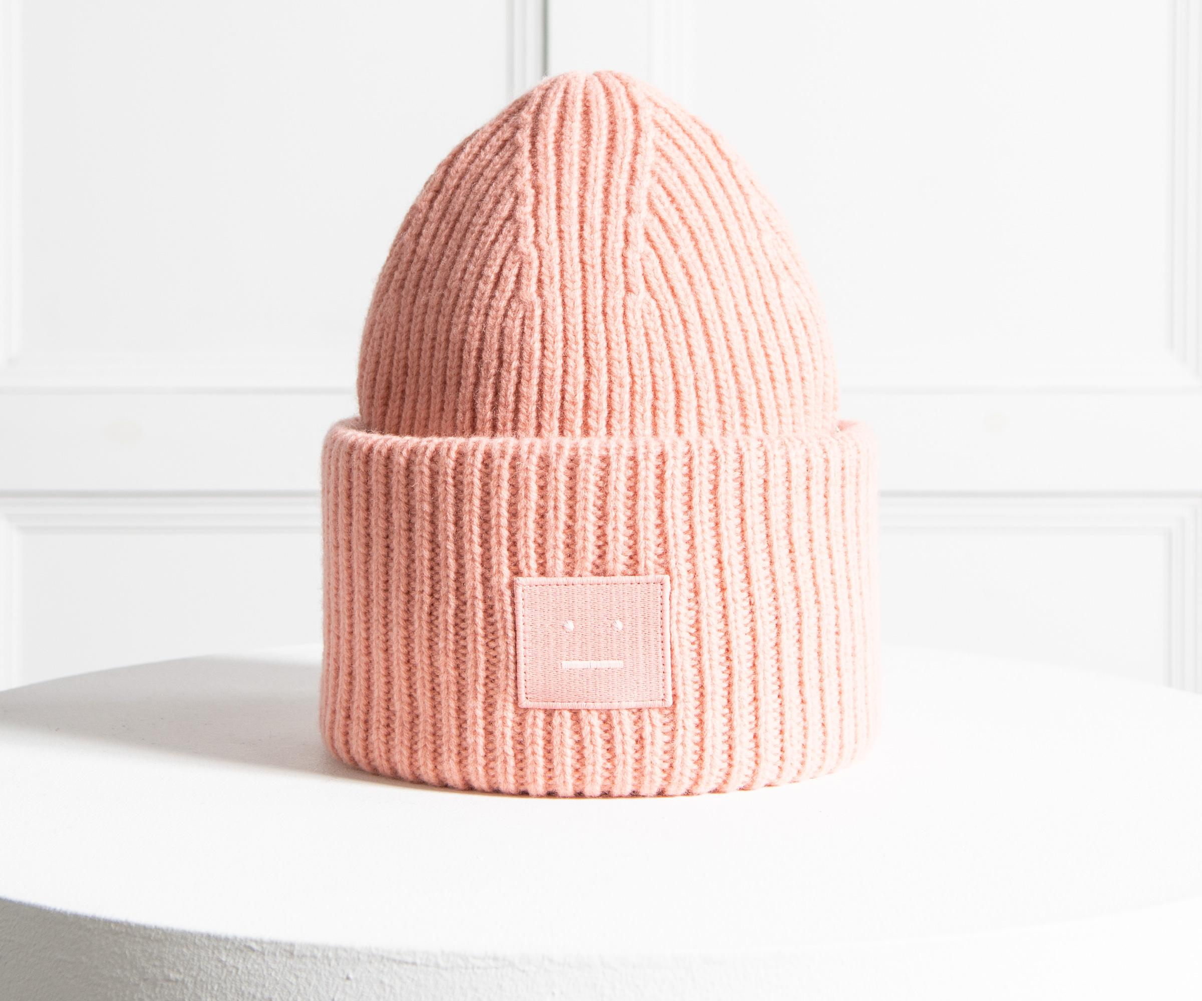 31885c8117e Acne  pansy N Face  Beanie Pale Pink in Pink for Men - Lyst
