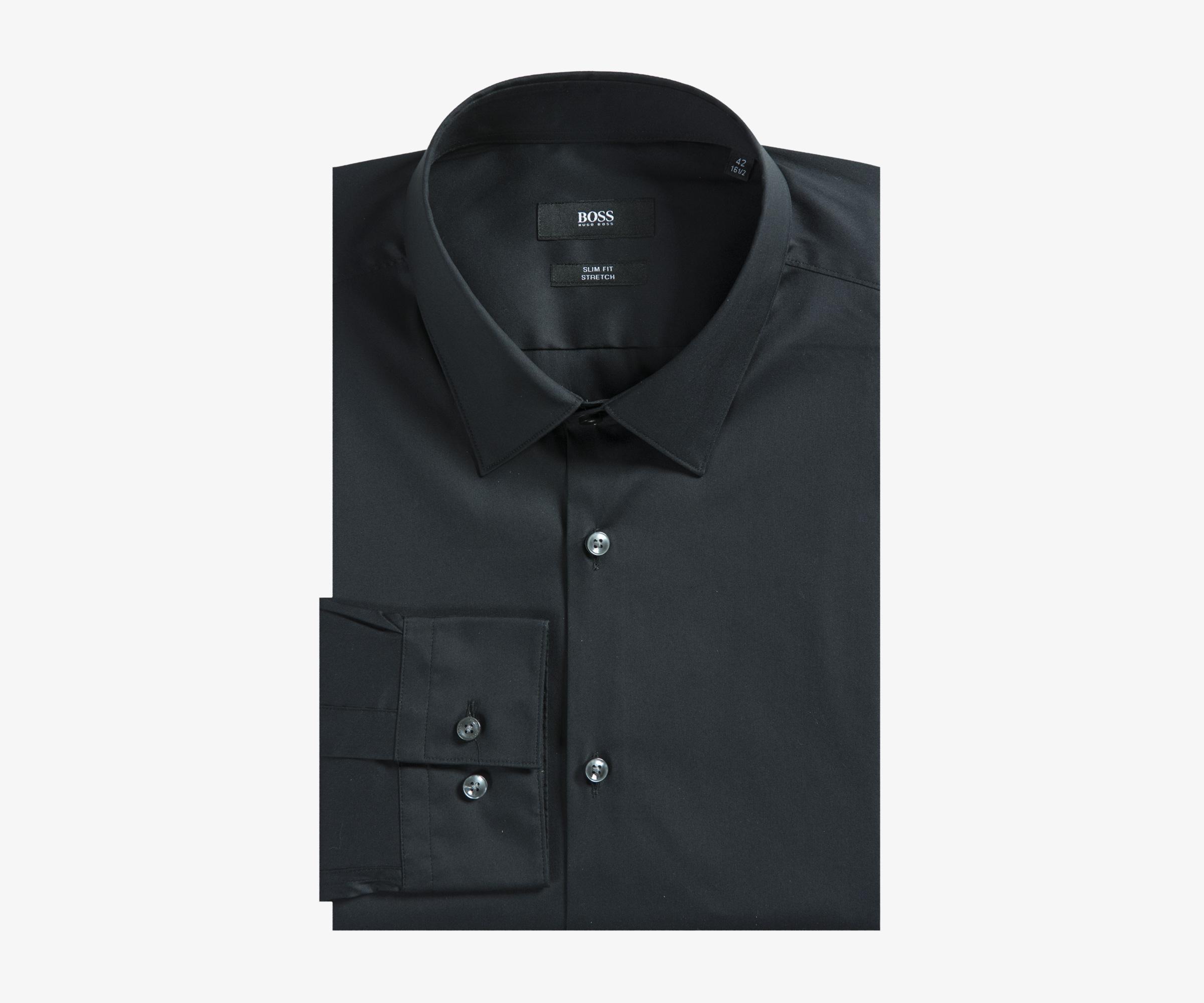 Lyst boss 39 isko 39 formal shirt black in black for men for Hugo boss formal shirts