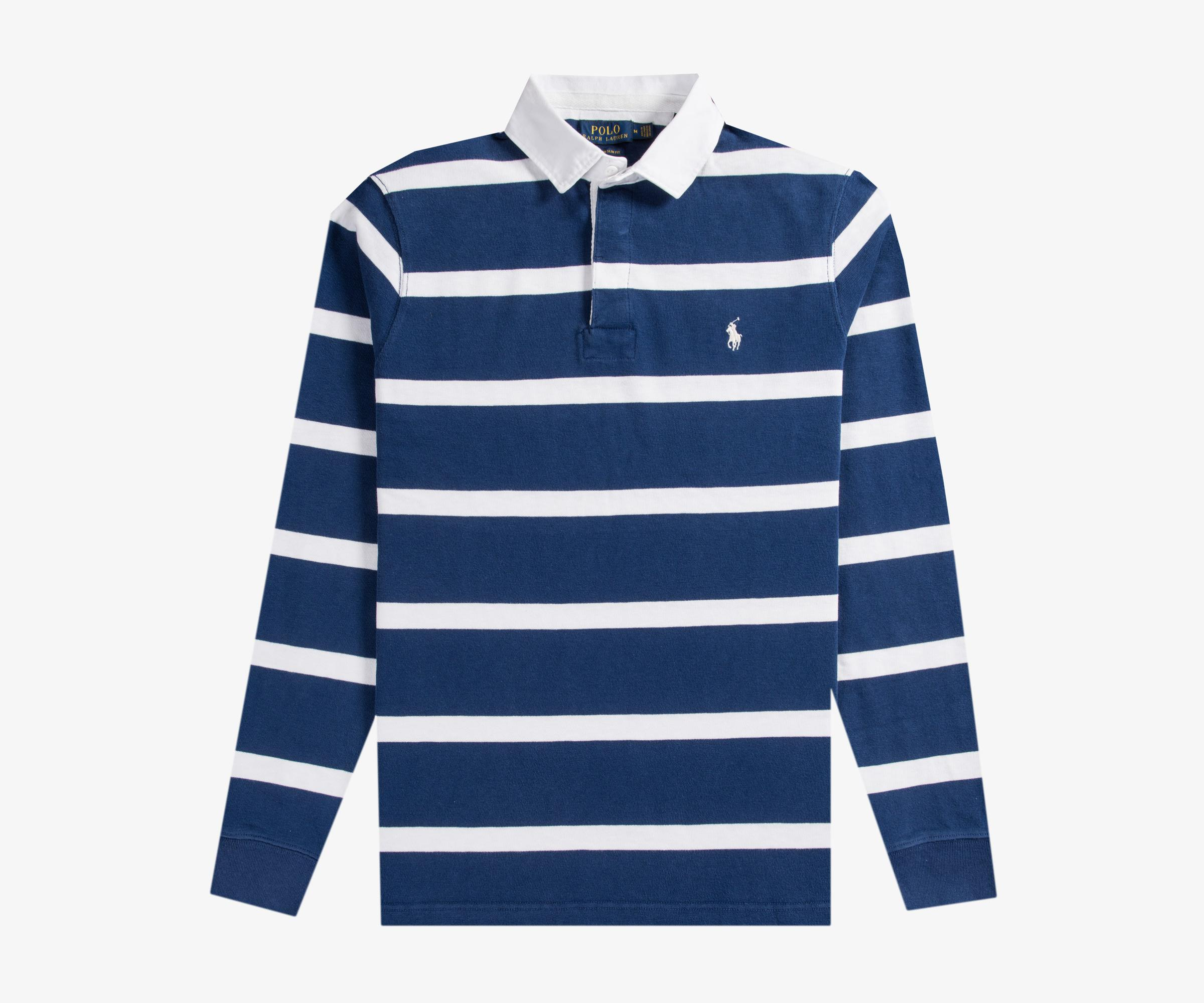 Ralph Lauren. Men\u0027s Blue Bar Stripe Rugby Shirt ...