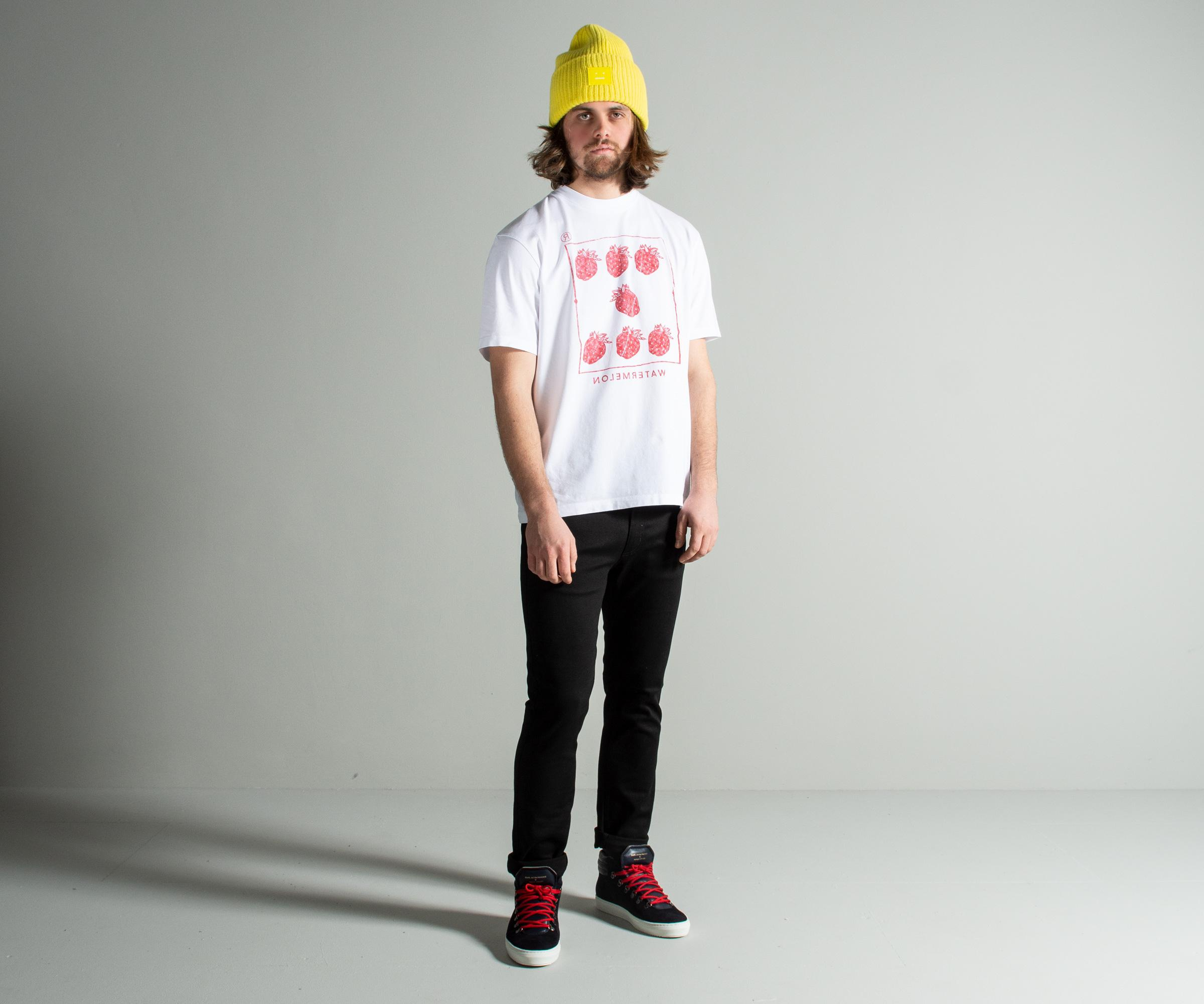 01d49be11 Acne Studios Crew Neck 'watermelon' Printed T-shirt White in White ...