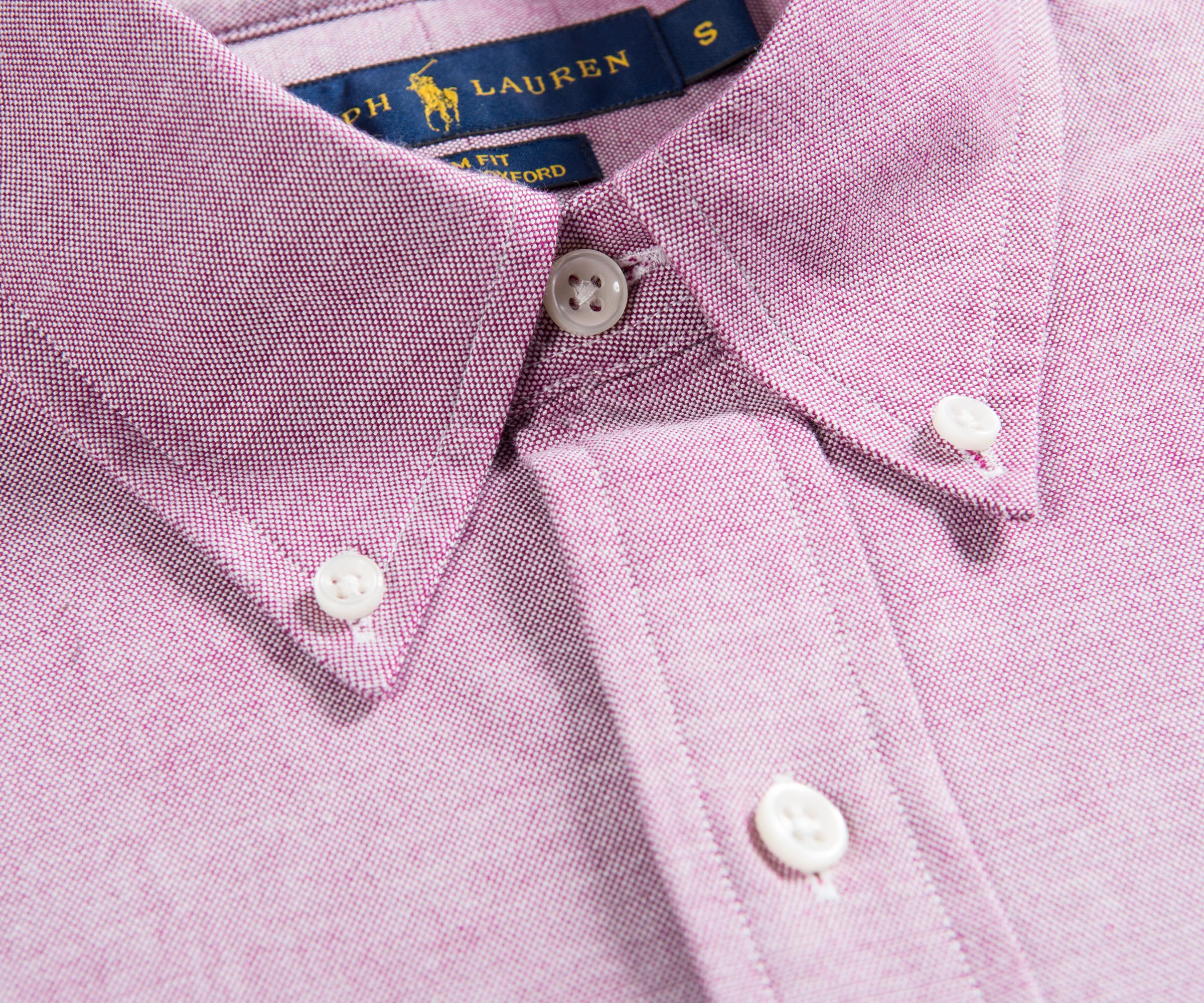 c2abfae3 Ralph Lauren Slim Fit Stretch Oxford Shirt Crimson/white in Purple ...