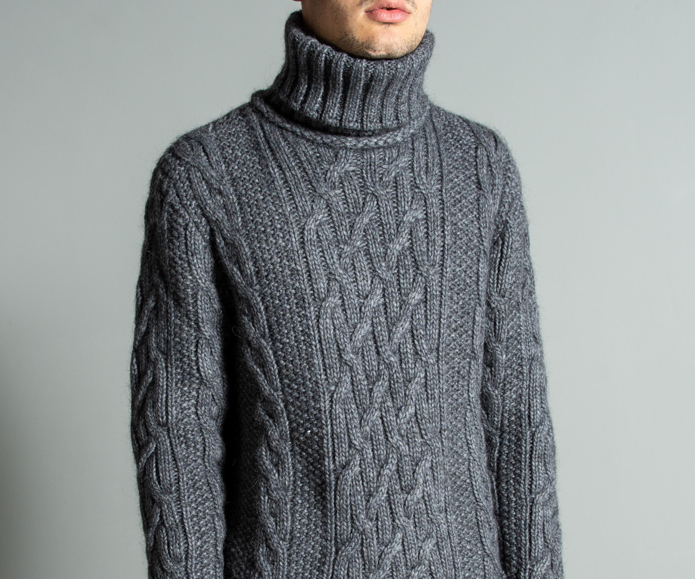 fb66c1a921e4c Paul   Shark Roll Neck  fisherman Collection  Cable Knit Grey in ...
