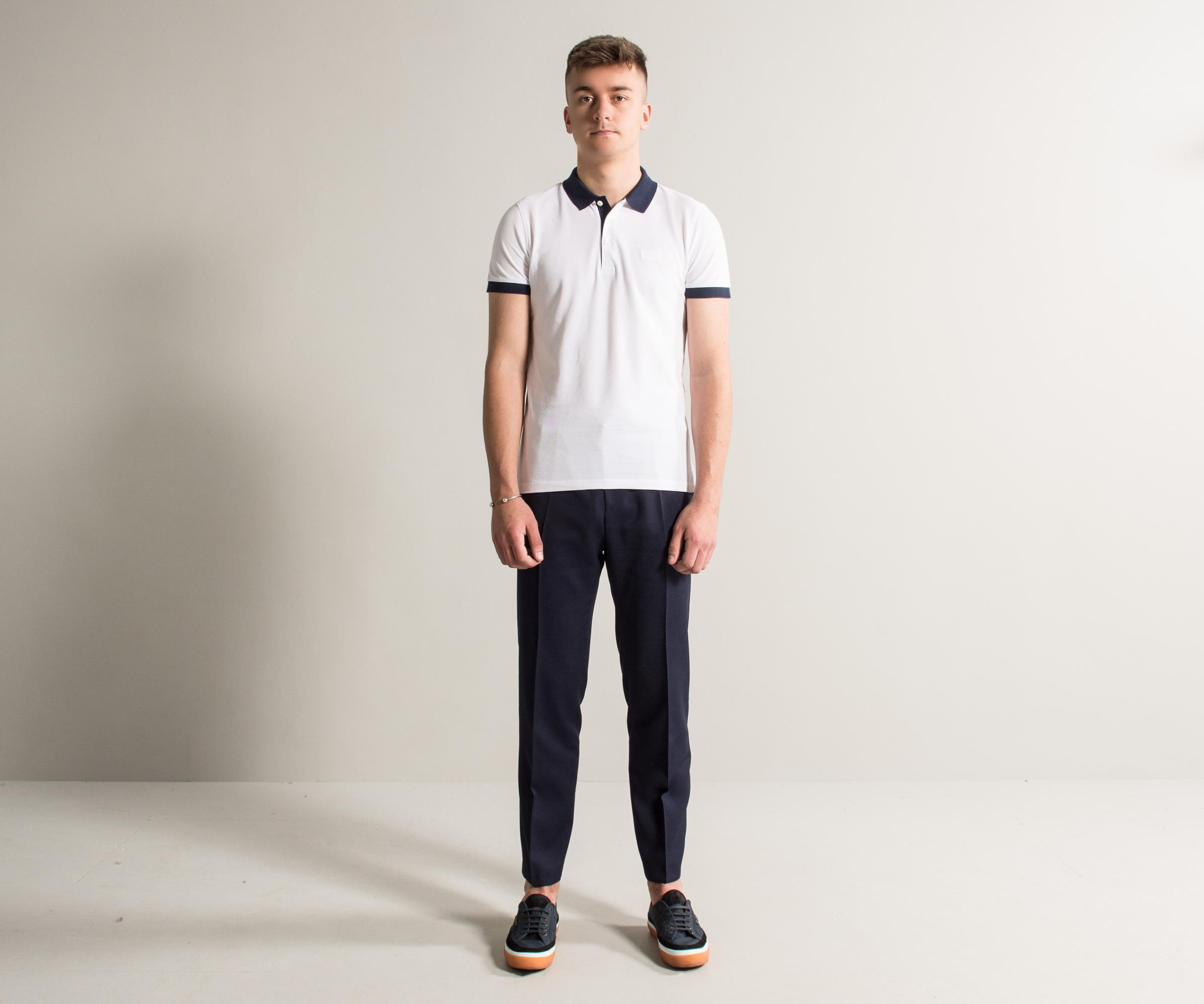9abc5858 Lyst - Boss 'phillipson26' Slim Fit Polo White in White for Men