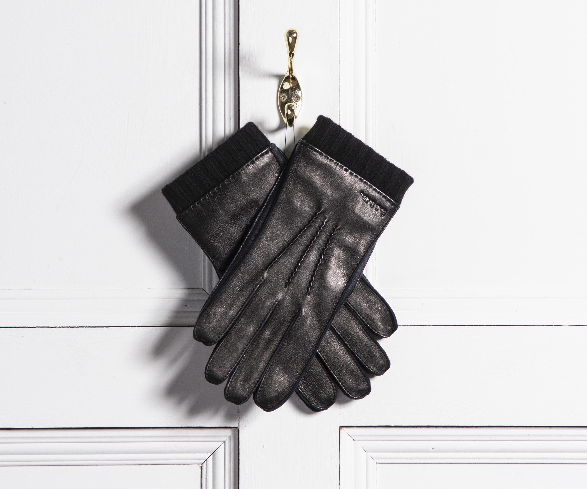 d1fb6e63af478 Paul Smith Deerskin Silk-cashmere Lined Gloves Black in Black for ...