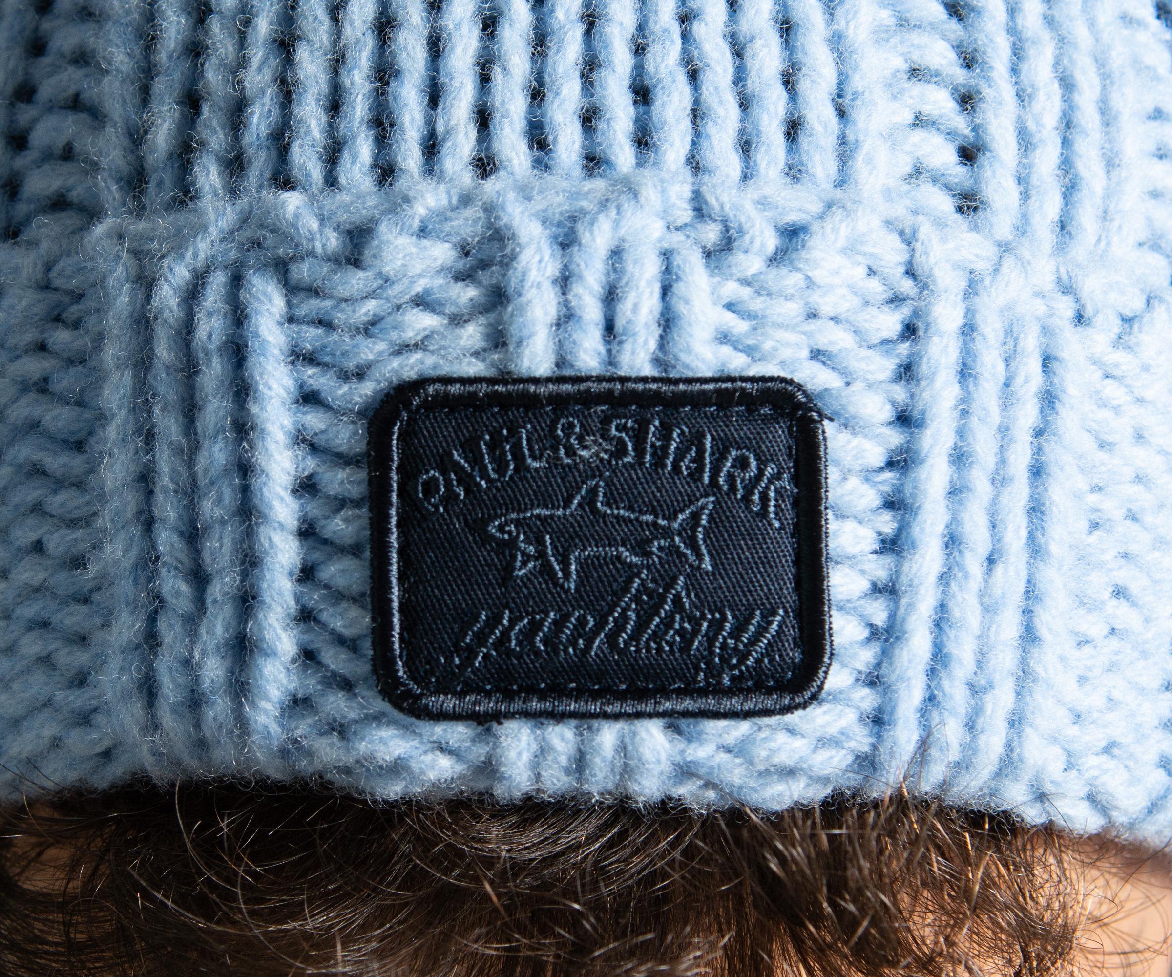 283807f58fd6b9 Paul & Shark Cable Knit Bobble Hat Light Blue in Blue for Men - Lyst