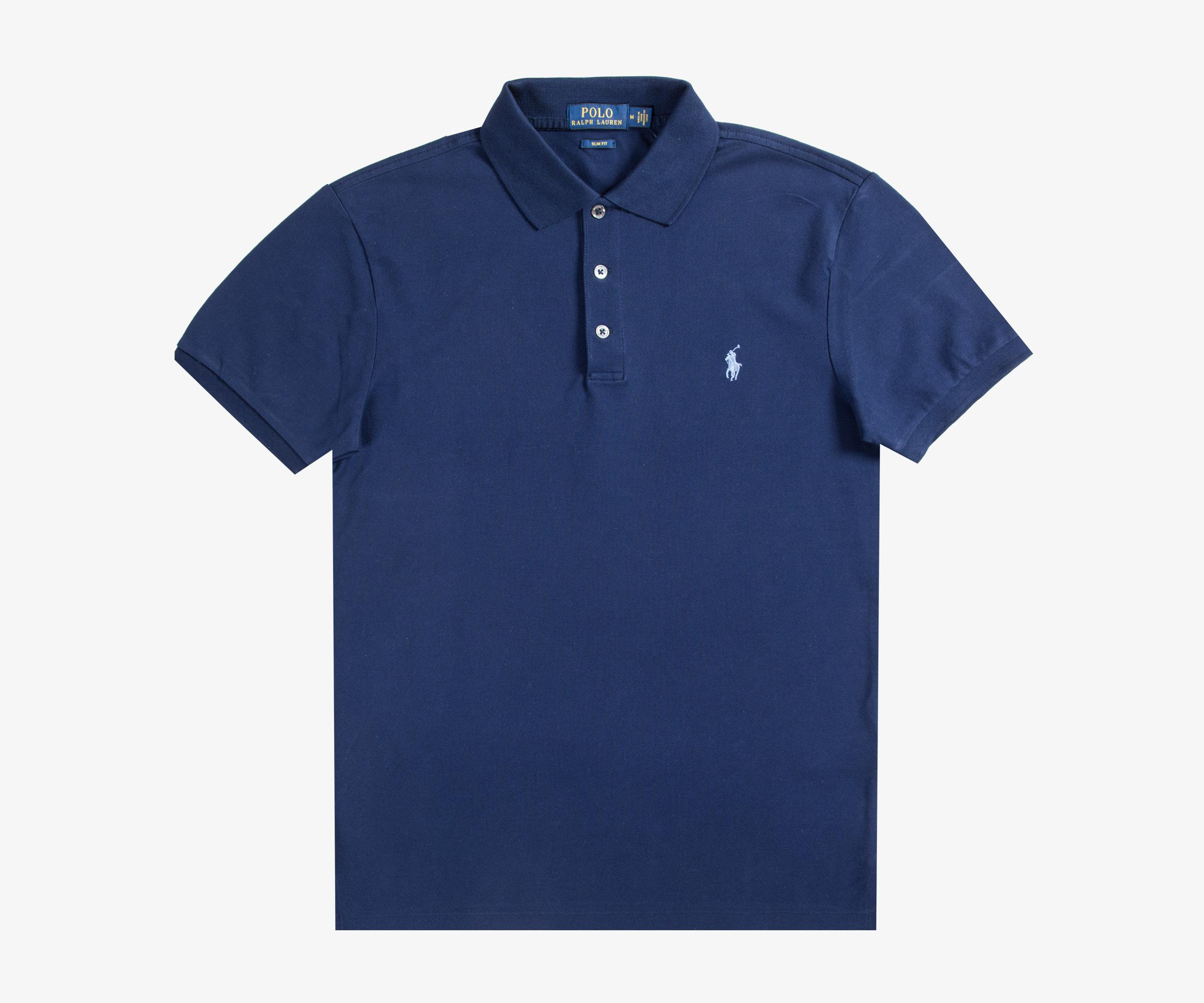 00098e77df93 Lyst - Ralph Lauren Slim Fit Stretch Mesh Polo French Navy in Blue ...