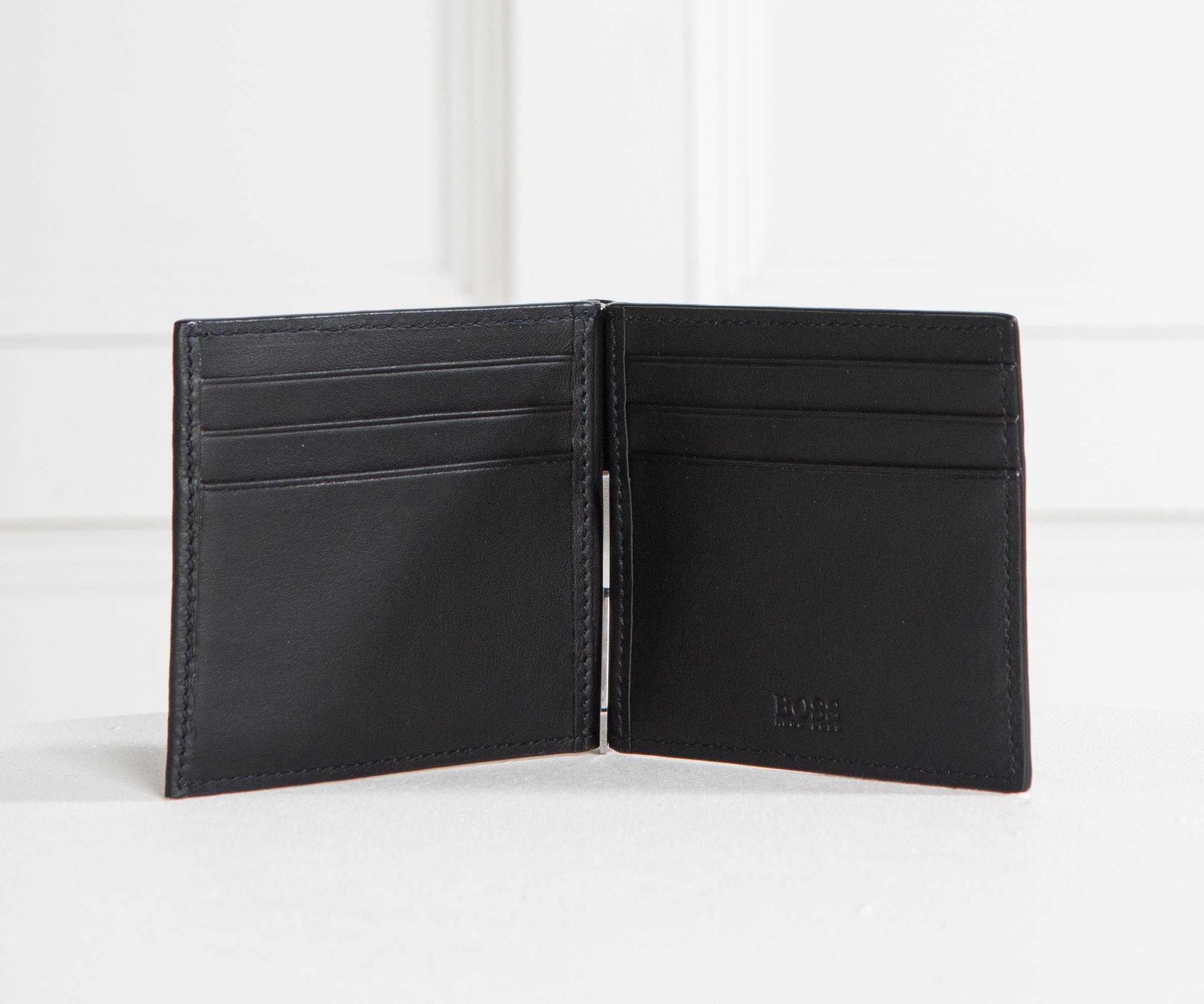 3eb051913afe BOSS 'traveller 6 Cc Clip' Money Clip Wallet Black in Black for Men ...