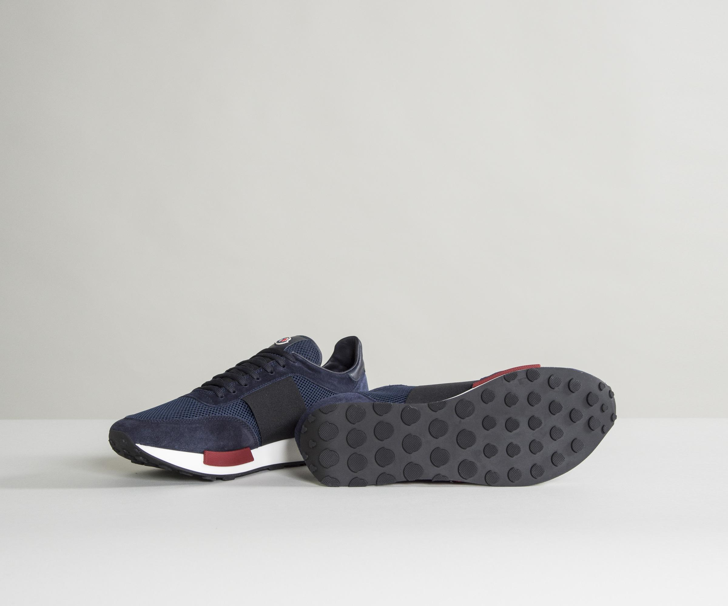 da72fc8bb Lyst - Moncler  horace  Suede   Mesh Trainers Navy in Blue for Men