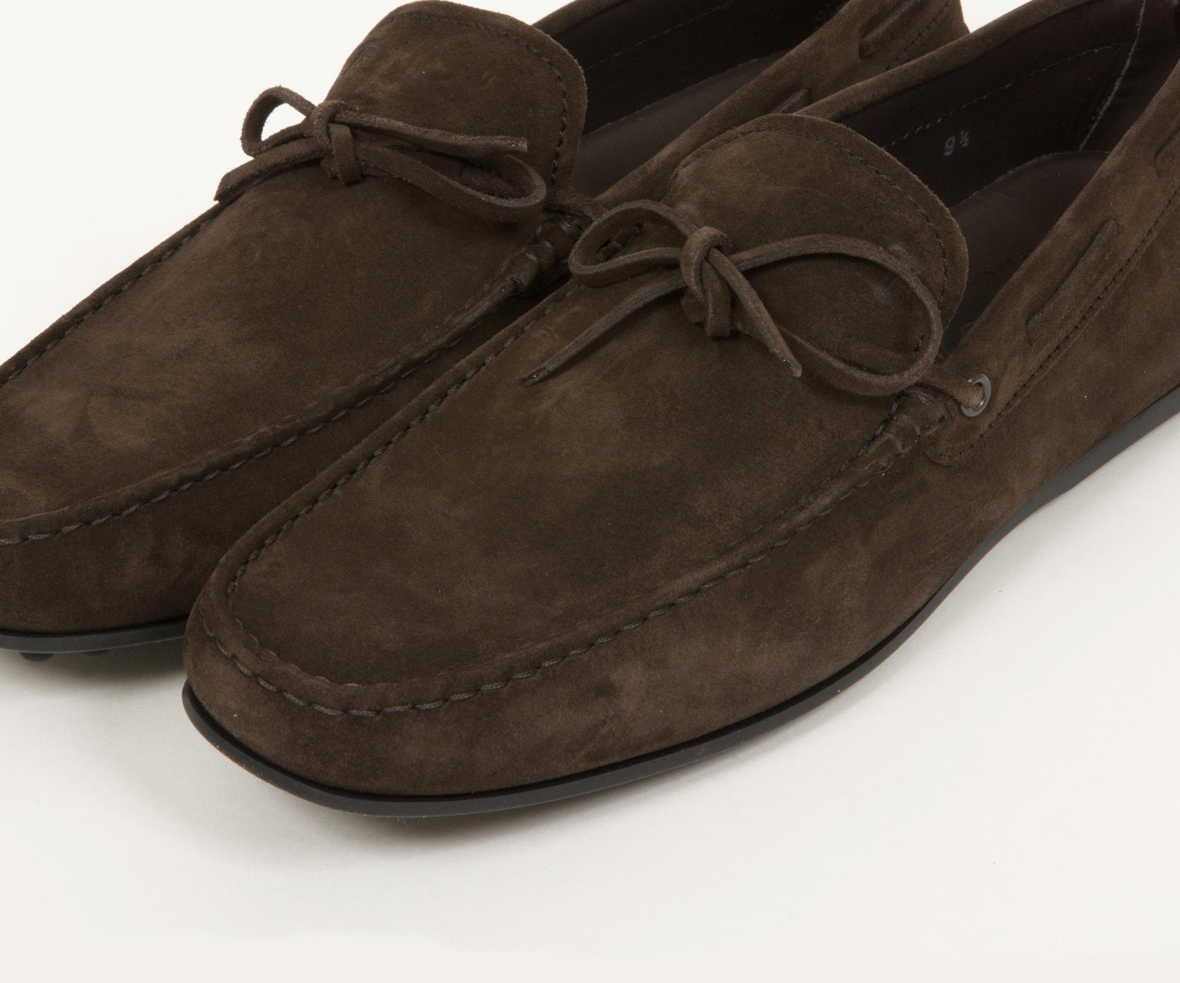 2f04539965e Tod s - City Gommino Suede Driving Shoes Dark Brown for Men - Lyst. View  fullscreen