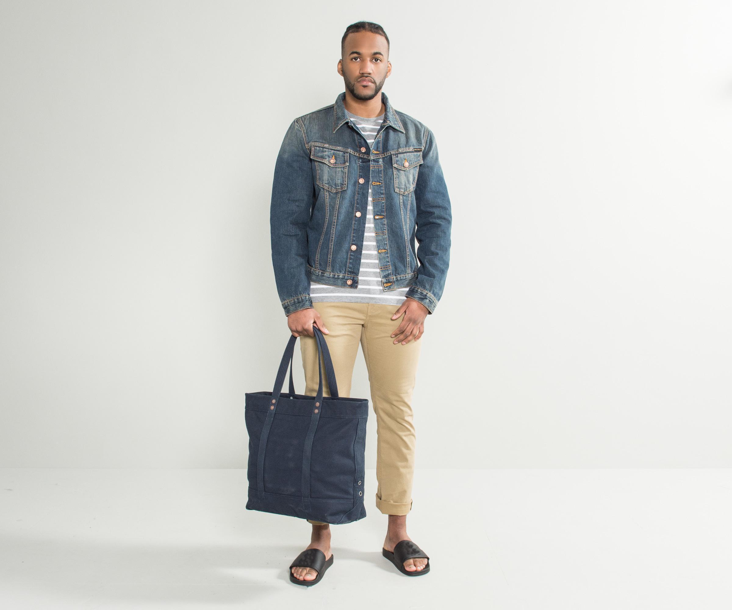 Nudie Jeans BILLY - Veste en jean - dark authentic M8SDsIaNQS