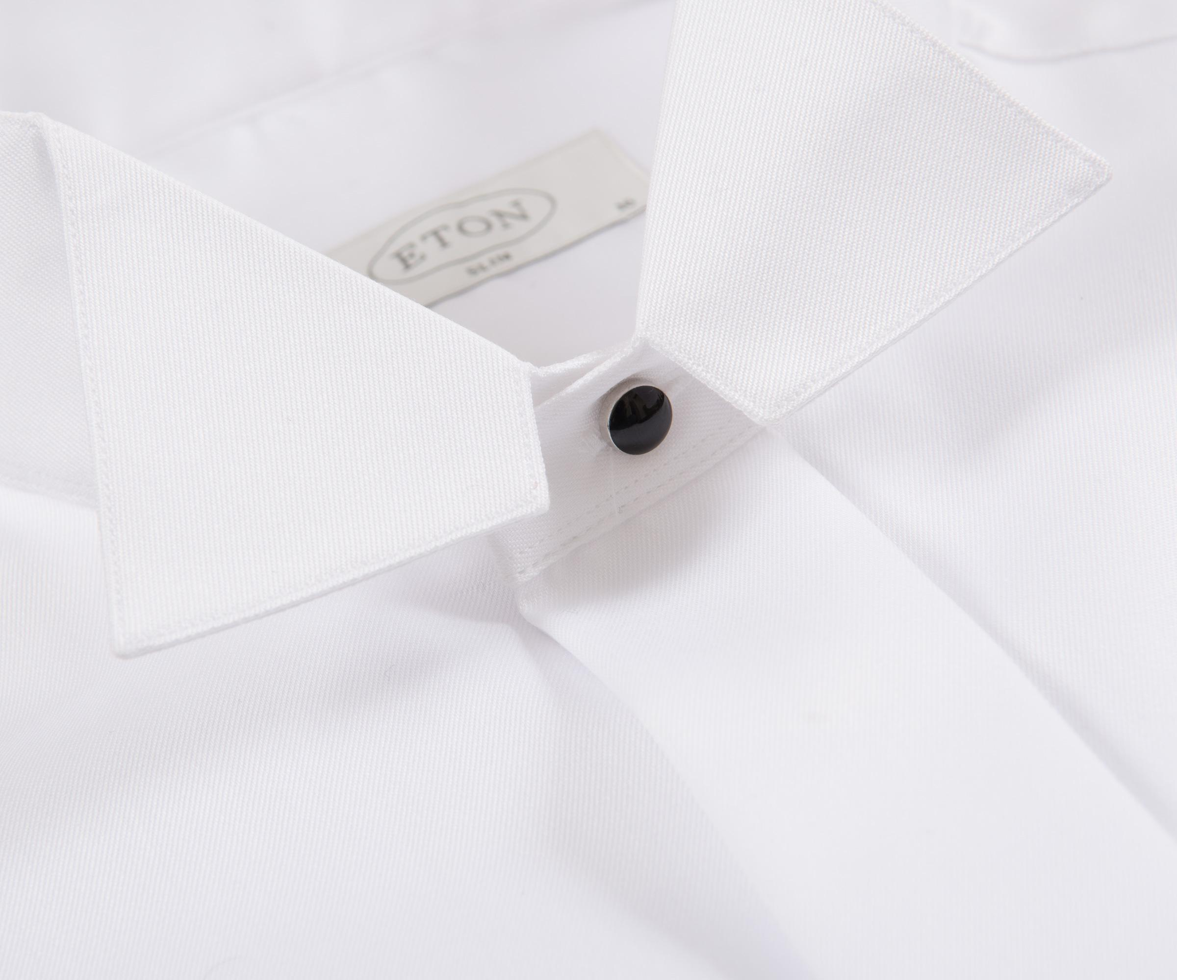 Lyst Eton Of Sweden Slim Fit Wing Collared Dinner Shirt White In