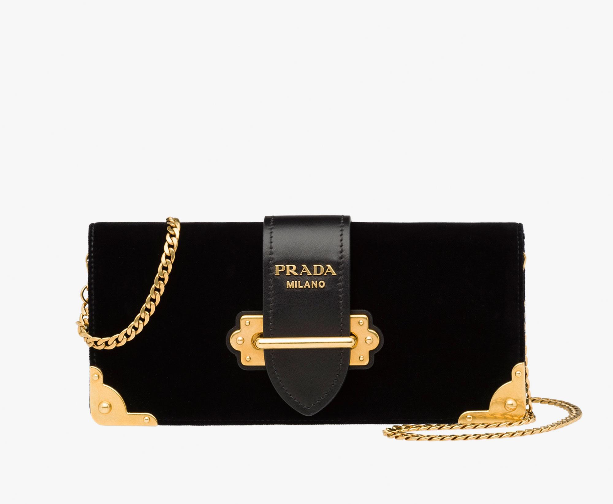 Lyst Prada Cahier Bag In Black