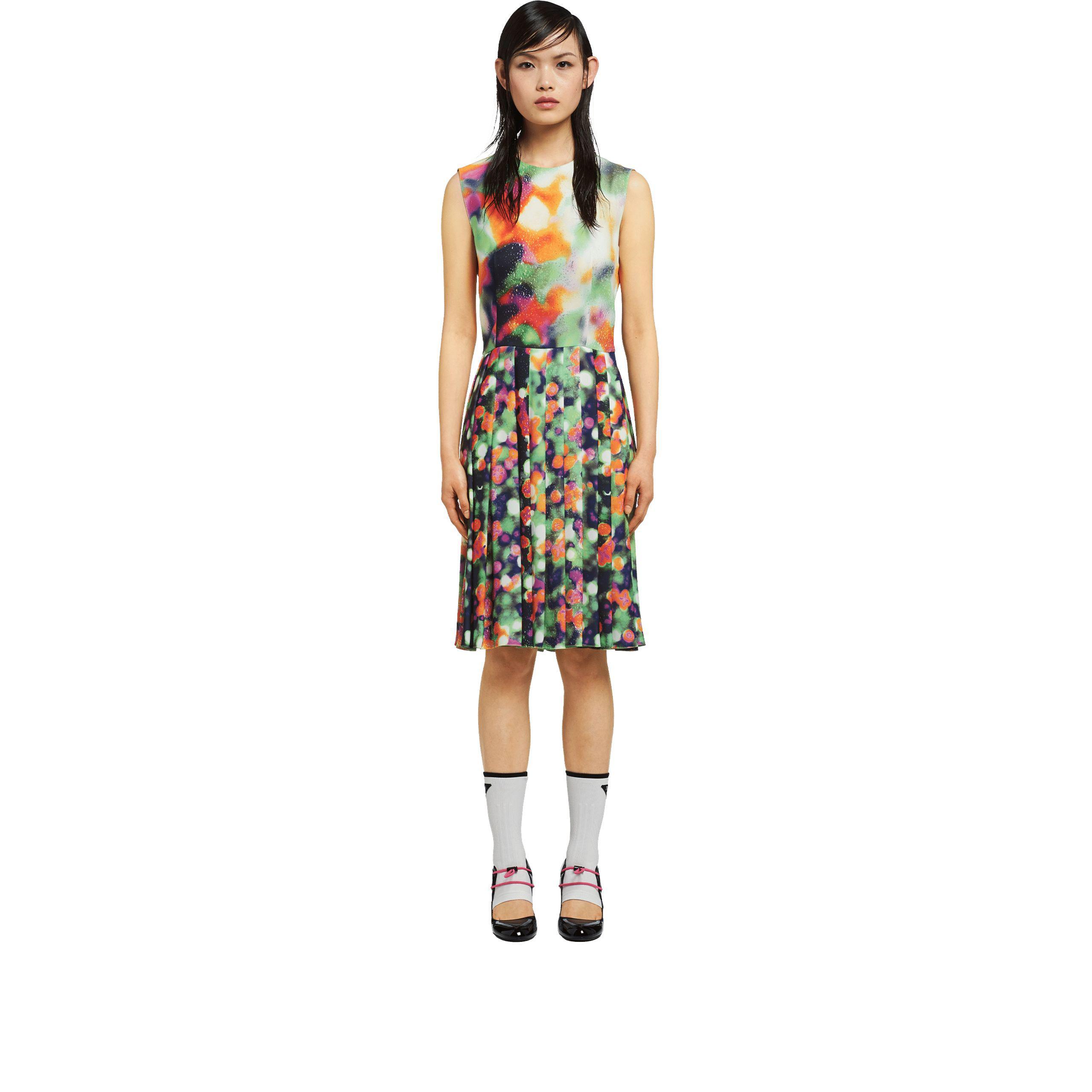 b3f563d4fd7d9 Prada - Multicolor Colored Broadcloth Dress - Lyst