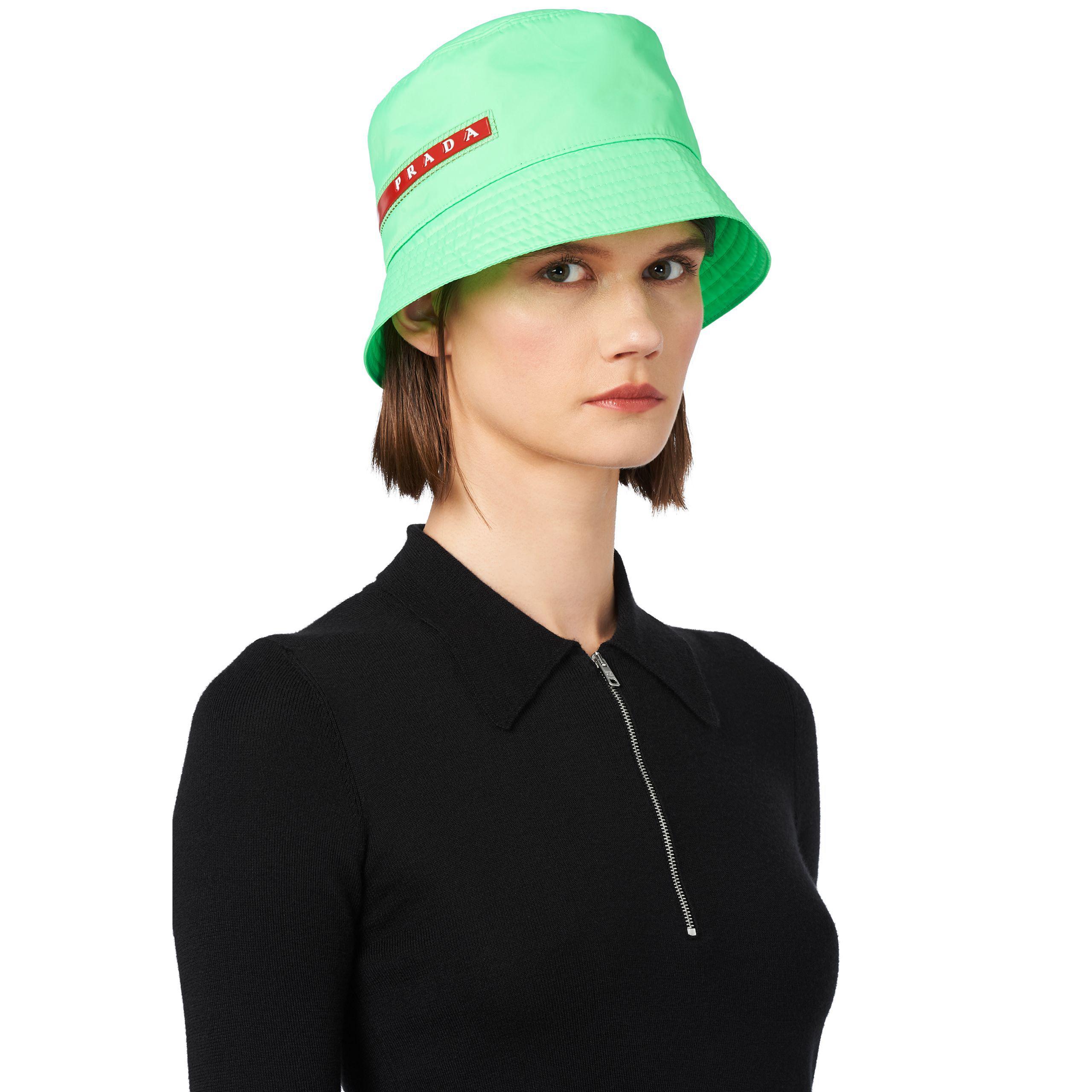 d1f6b4c7d17 Lyst - Prada Technical Fabric Cap in Green