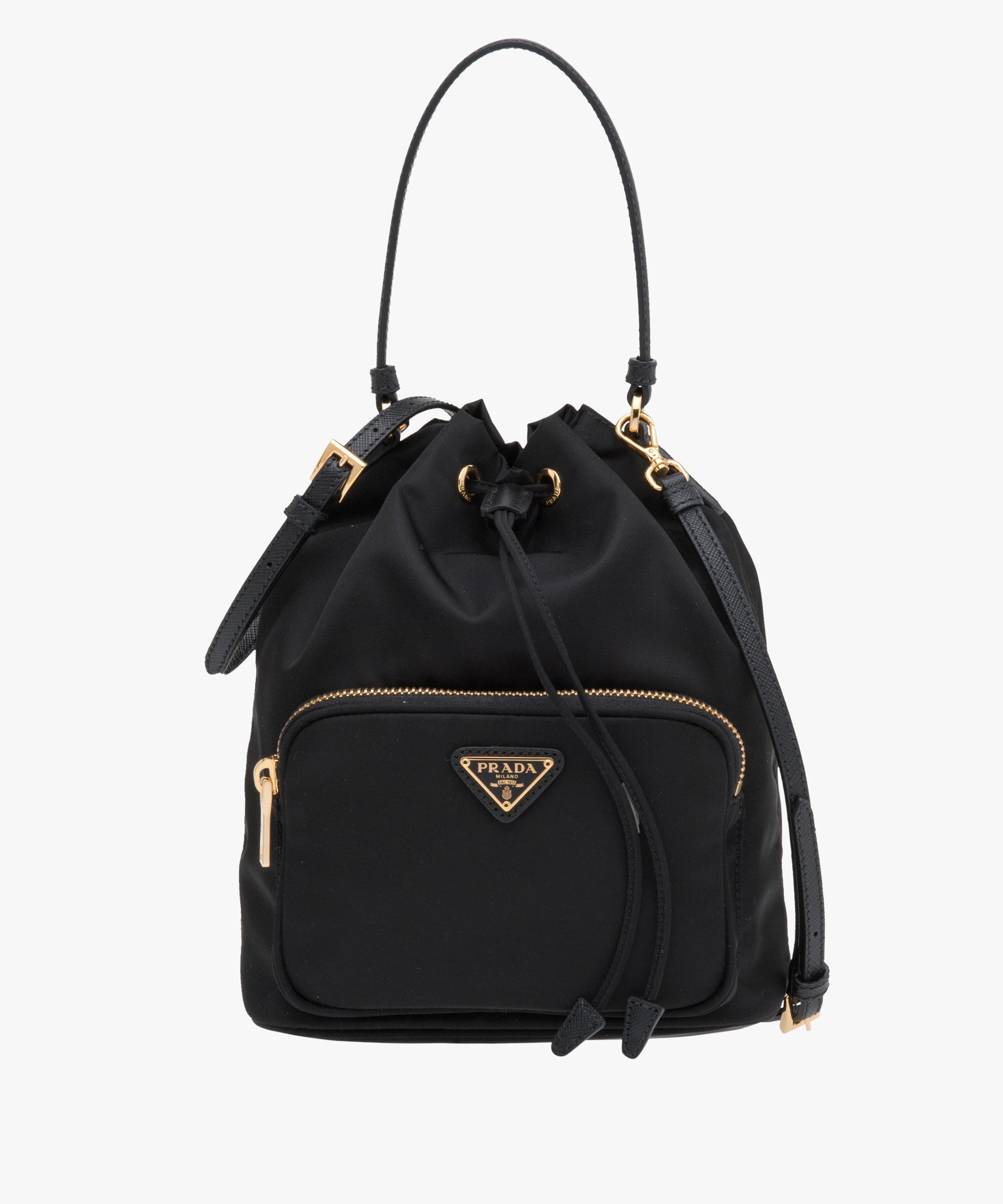 d272e62dcc40 ... promo code where can i buy lyst prada fabric shoulder bag in black  b761c 5abb2 d7f71