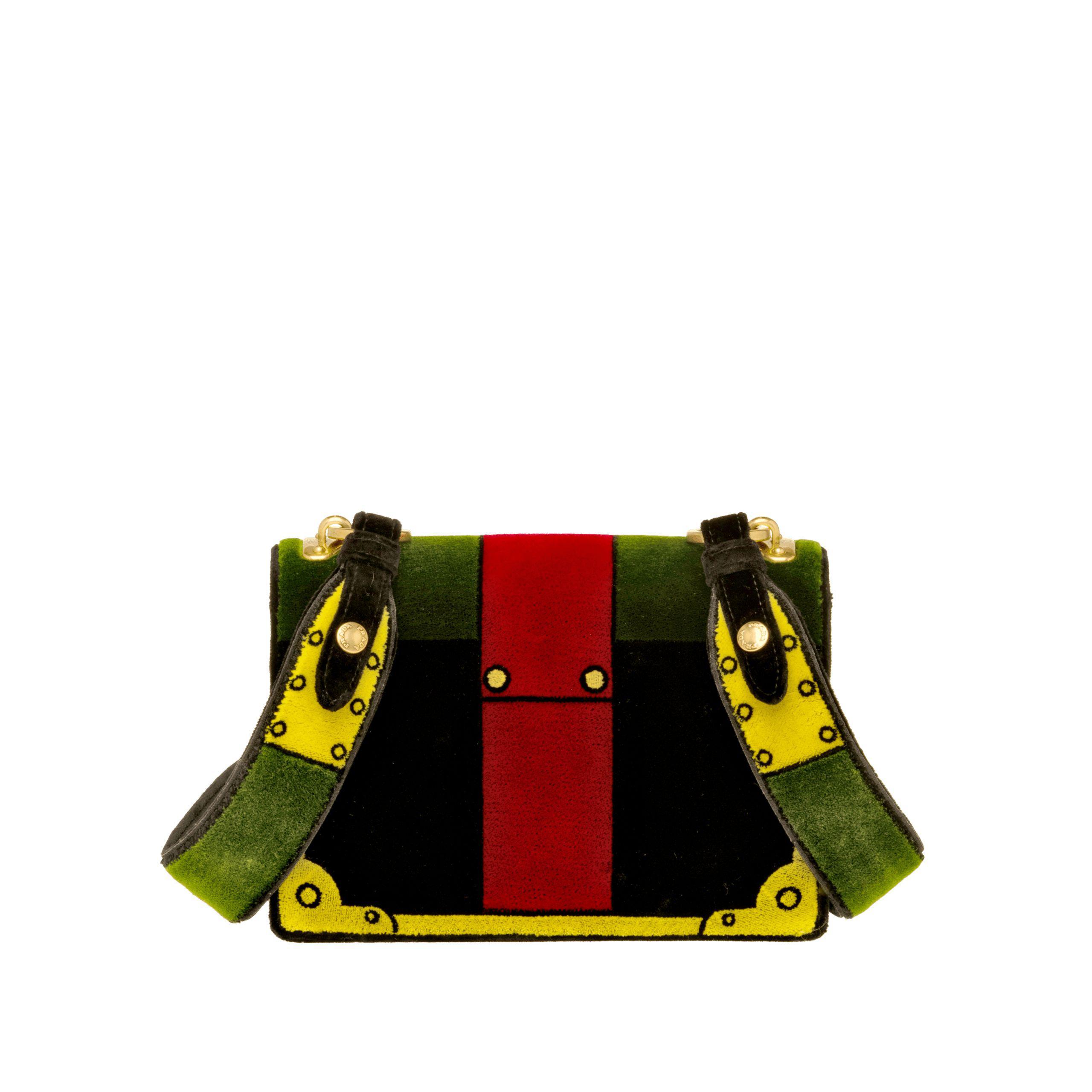 e0e893891a ... italy purchase lyst prada velvet shoulder bag 88ee7 3c112 c8aeb bd338